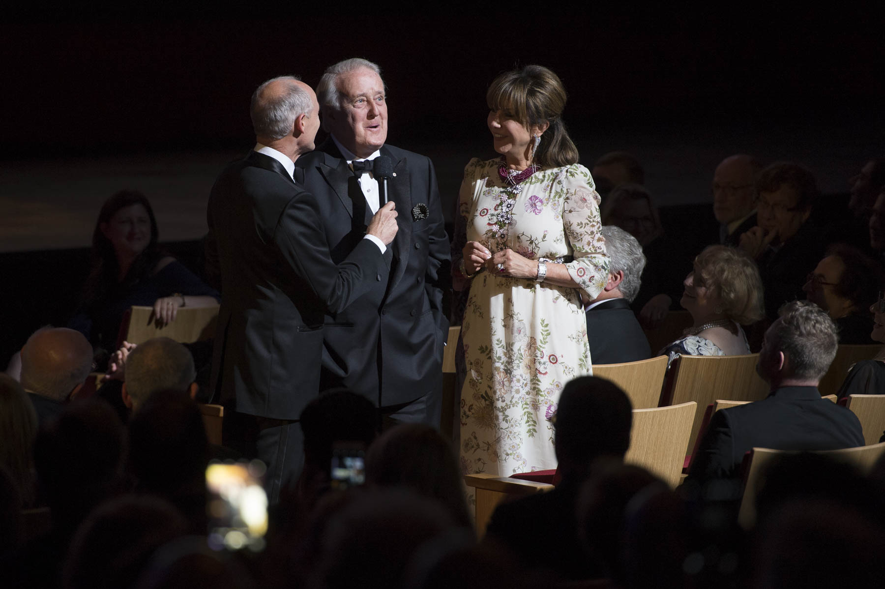 Former prime minister Brian Mulroney, accompanied by his wife Mila spoke about the young Michael Bublé.