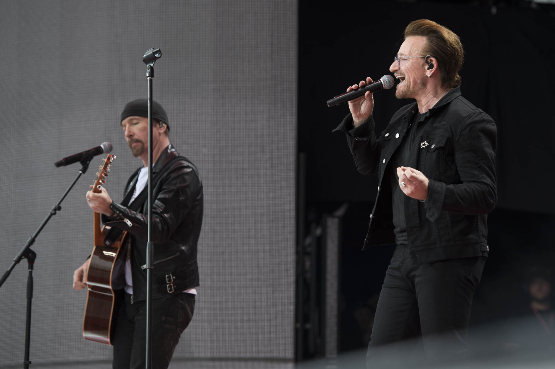 Bono and The Edge, were among those who performed at the event.