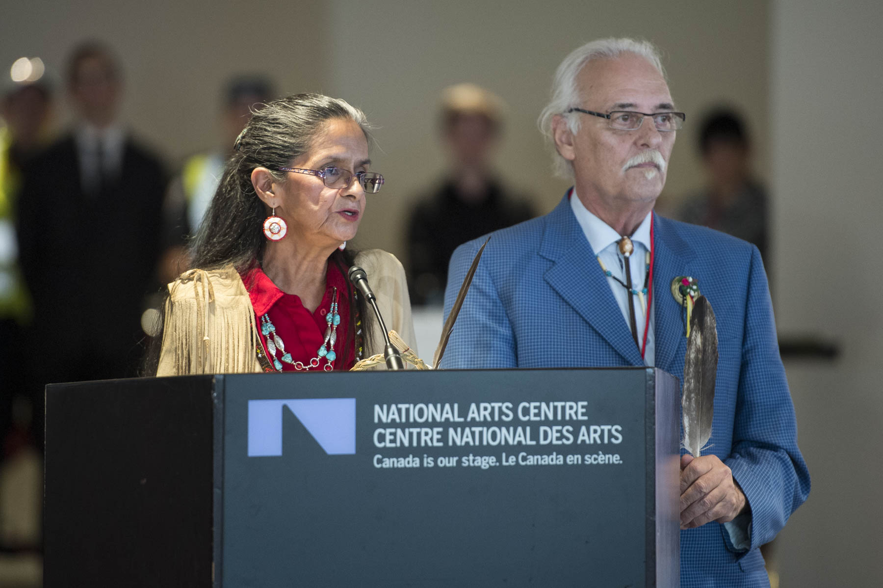 Their Excellencies and His Royal Highness attended the official ceremony for the reopening of the National Arts Centre.