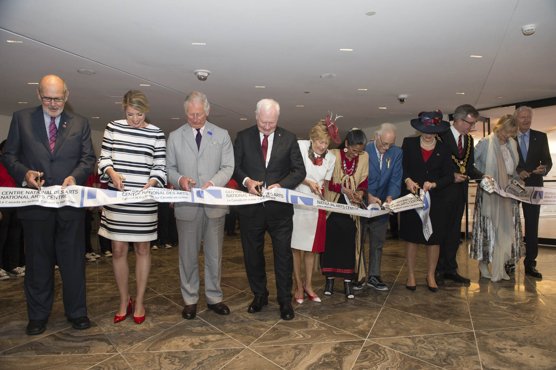 Their Excellencies, the Prince of Wales and other distinguished guests had the honour of cutting the ribbon, and met with artists, Indigenous leaders and the architects behind the rehabilitation work.