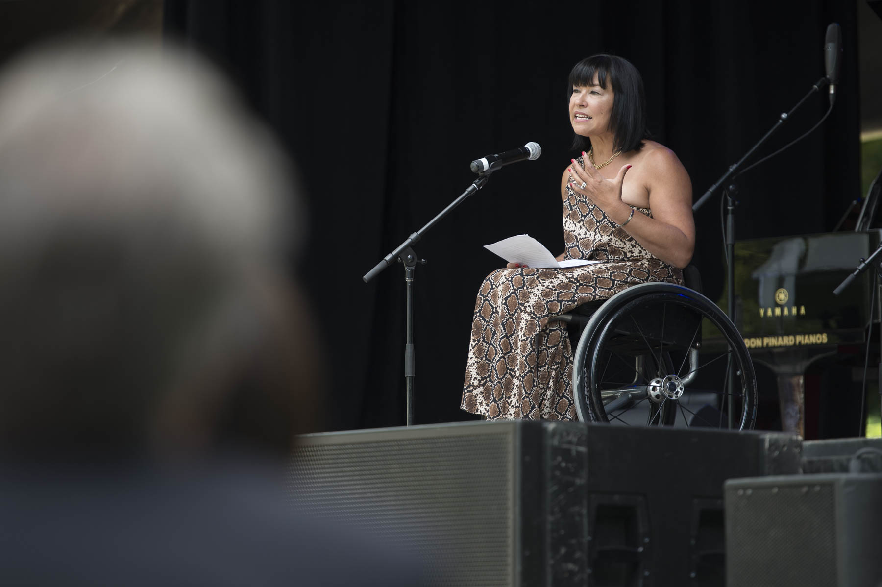 The Honourable Chantal Petitclerc, C.C., took the stage and delivered inspirational remarks to her fellow Order of Canada members.