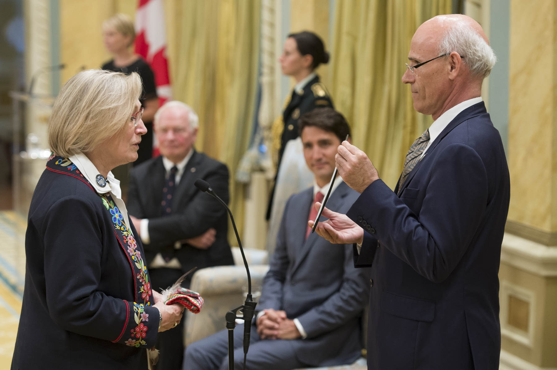 Carolyn Bennett, former Minister of Indigenous and Northern Affairs, was sworn in as Minister of Crown-Indigenous Relations and Northern Affairs.