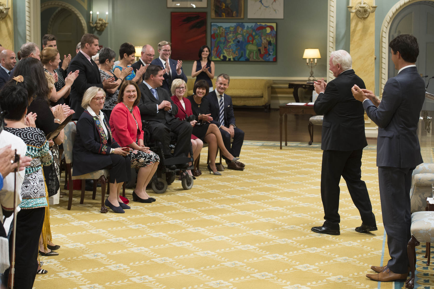 His Excellency the Right Honourable David Johnston, Governor General of Canada, presided  over a swearing-in ceremony on August 28, 2017, at Rideau Hall.