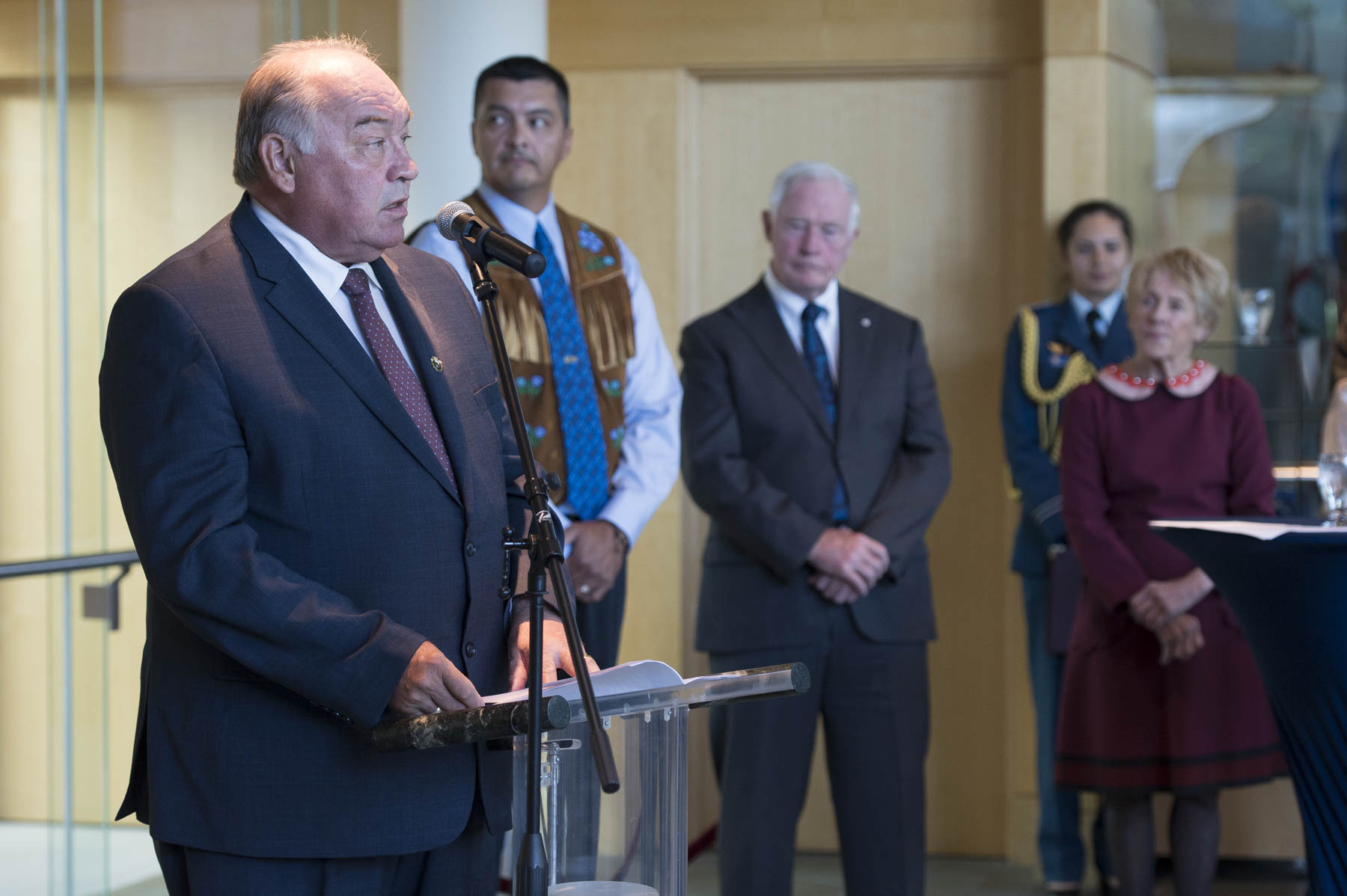 The Honourable Bob McLeod, Premier of the Northwest Territories delivered remarks during the reception.