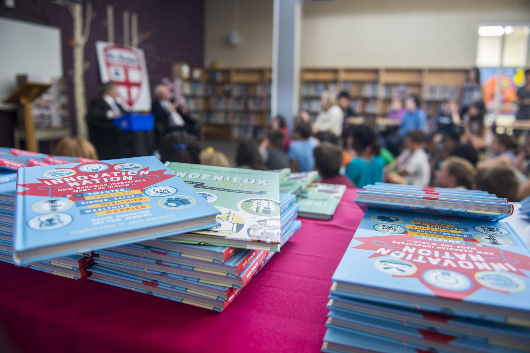 Published simultaneously in English and French by Tundra Books (division of Penguin Random House Canada) and Les Éditions La Presse, and illustrated by Mr. Josh Holinaty, this young readers' edition of Ingenious focuses on 50 kid-friendly Canadian innovations that changed the world, from canoes to whoopee cushions, chocolate bars to zippers. It will be a valuable resource for teachers who want to inspire their students to become innovators.