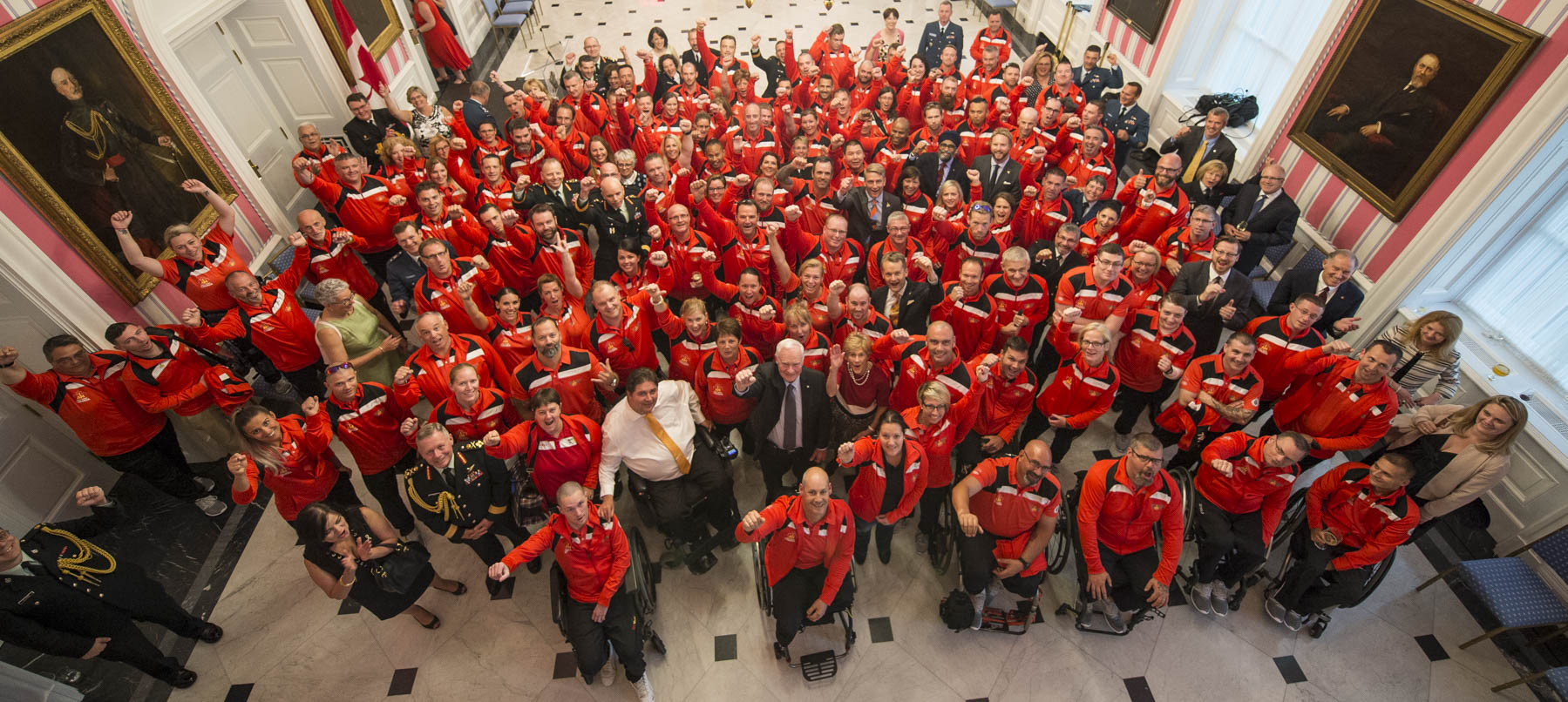 Their Excellencies welcomed Team Canada athletes who will be competing in the Toronto 2017 Invictus Games during a reception at Rideau Hall on September 20, 2017.