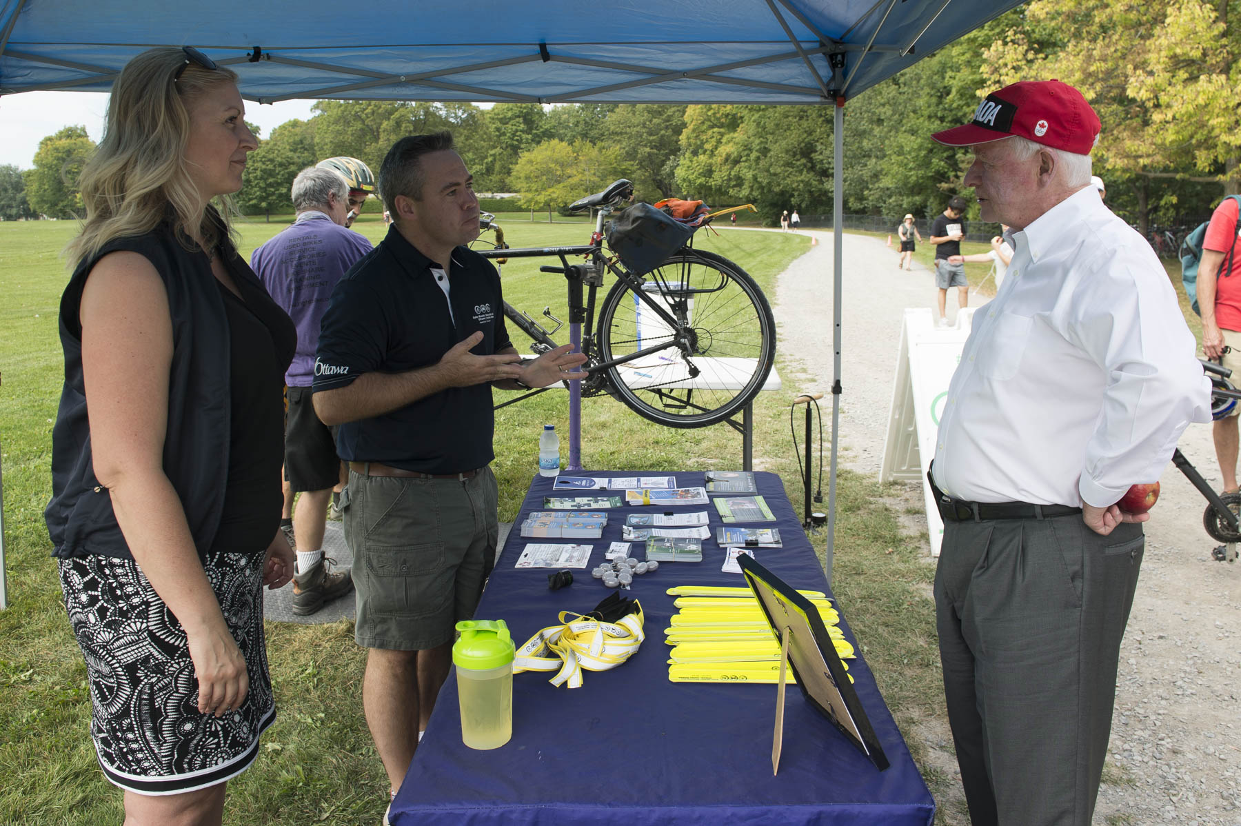Safer Roads Ottawa provided guests with bike safety information.