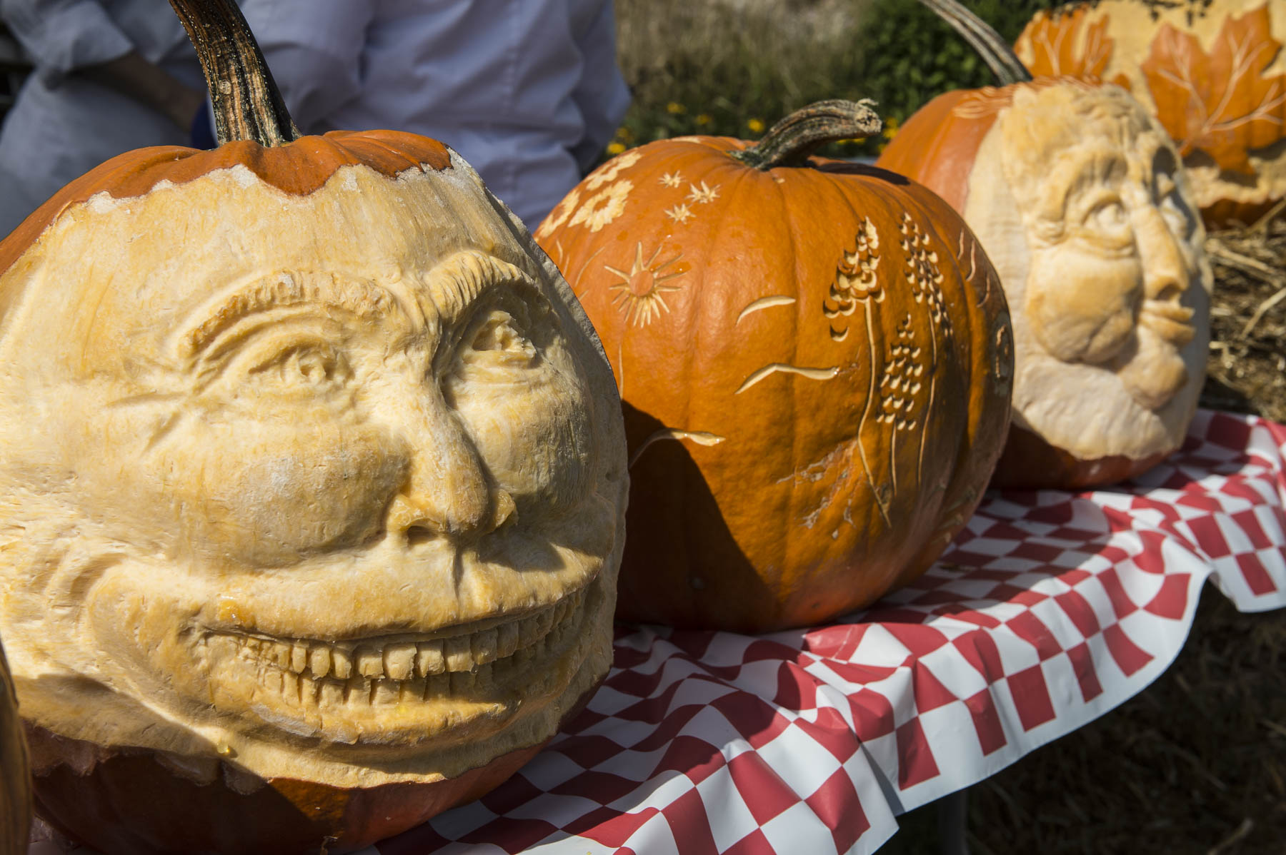 Pumpkins decorated the grounds of Rideau Hall.