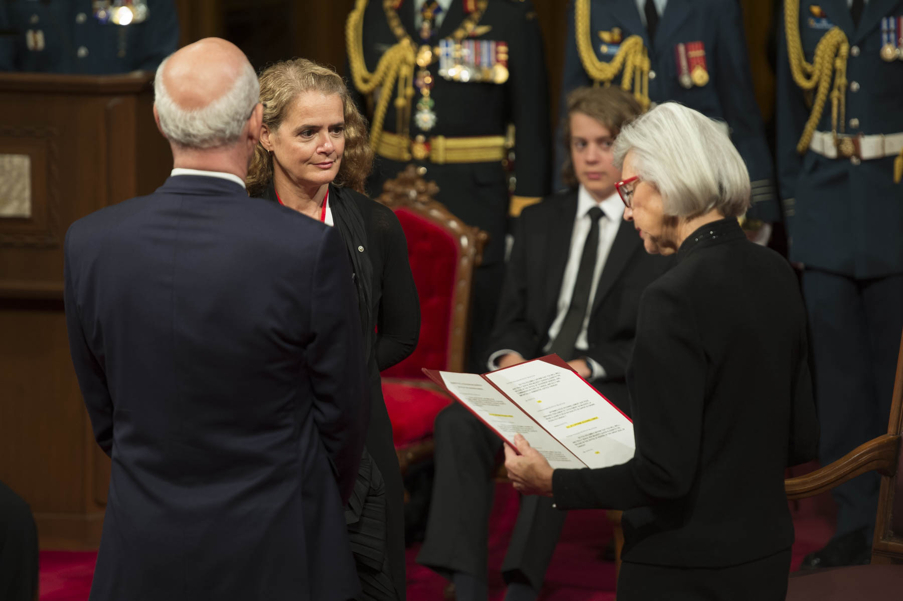 The Right Honourable Beverley McLachlin, Chief Justice of Canada, administered the Oaths.