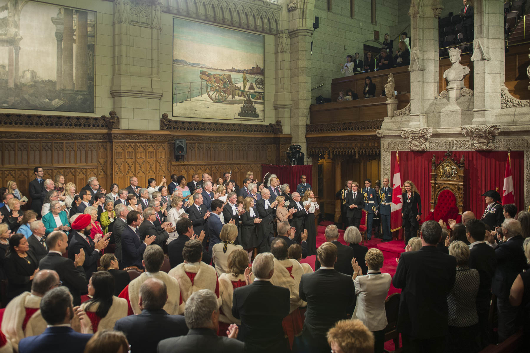 Ms. Julie Payette became the 29th Governor General of Canada during the installation ceremony held inside the Senate Chamber.