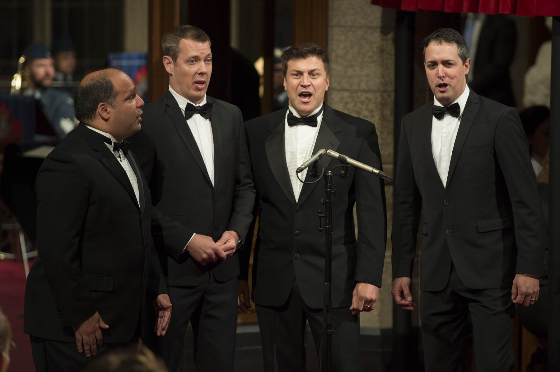 "The quartet Quartom also performed Félix Leclerc's song ""Moi et mes souliers"" during the ceremony."
