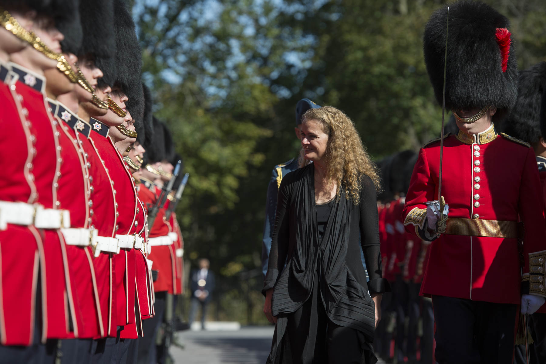 Her Excellency also inspected the guard of honour at Rideau Hall before making her way inside her new residence and workplace.