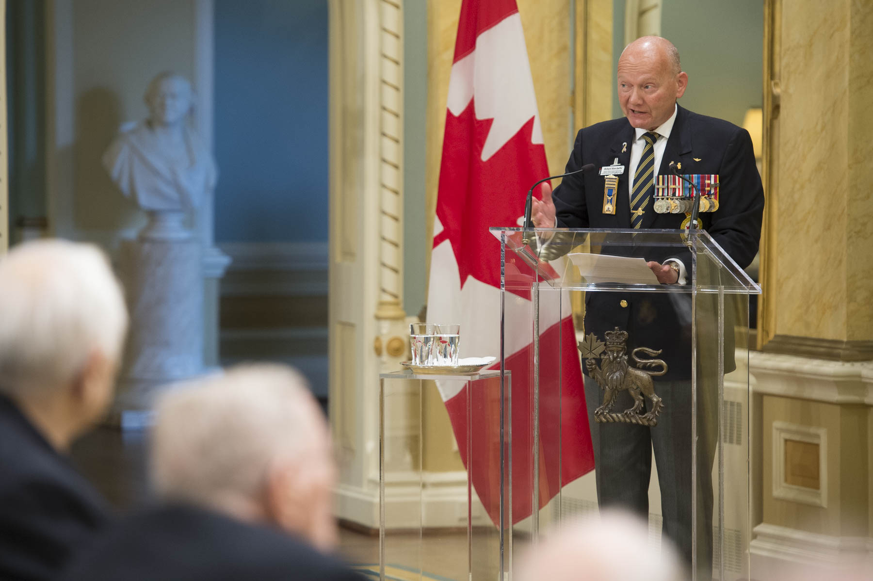 Major General (Ret'd) Richard Blanchette, Chairman, Defence and Security Committee for the Royal Canadian Legion, also delivered remarks.