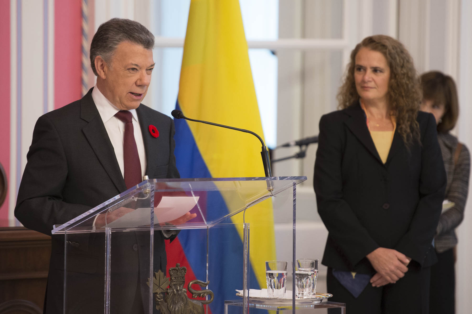 President Santos also delivered remarks.