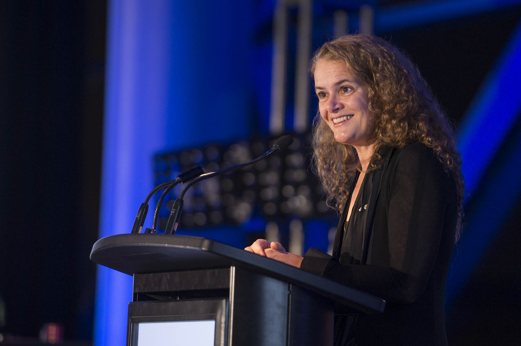Her Excellency the Right Honourable Julie Payette delivered opening remarks at the 9th annual Canadian Science Policy Conference at the Shaw Centre, in Ottawa, on November 1, 2017.
