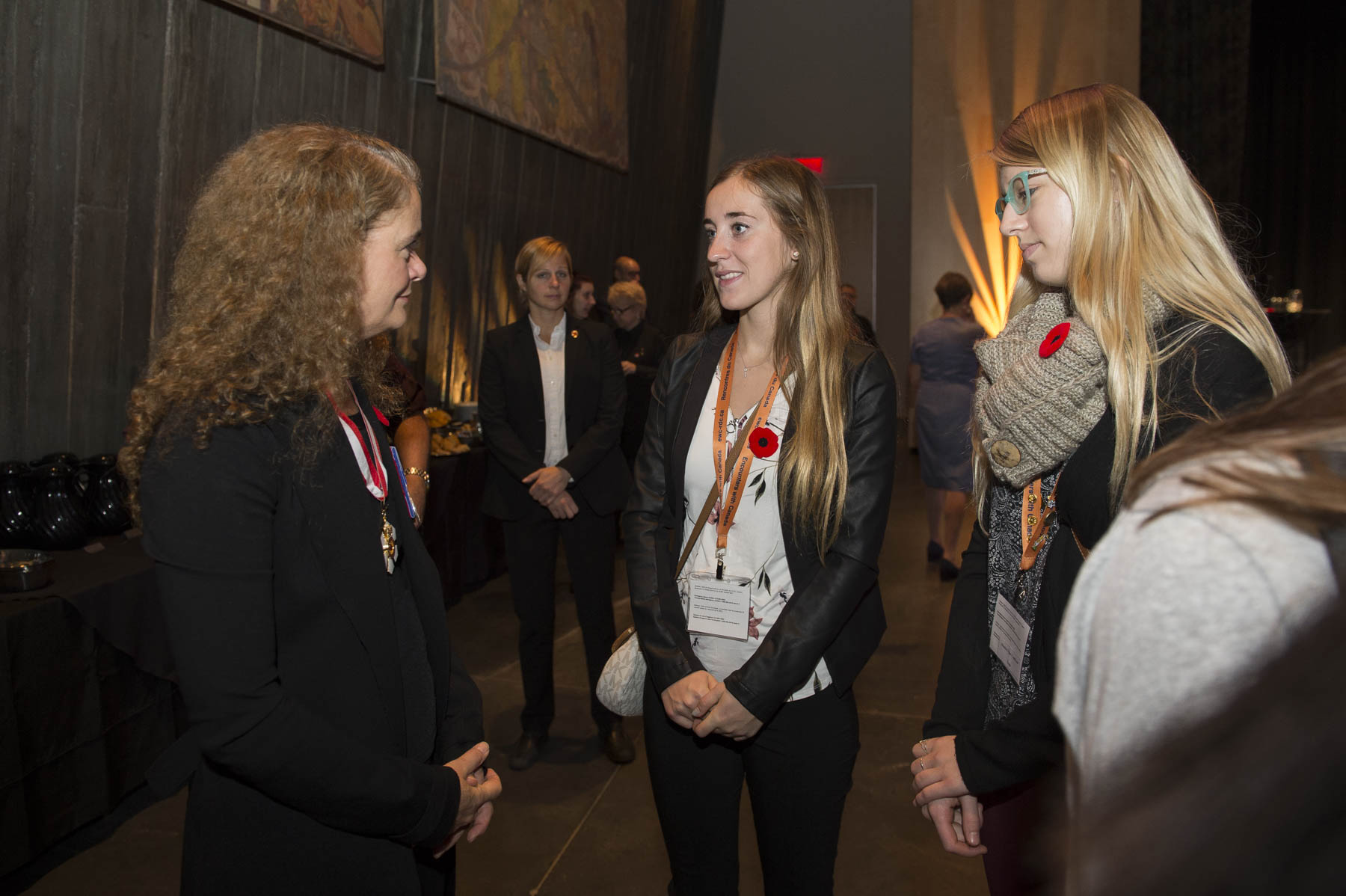 After the ceremony, Her Excellency met with some of the 125 students from Encounters Canada who will be taking part in commemorations to be held in Canada.