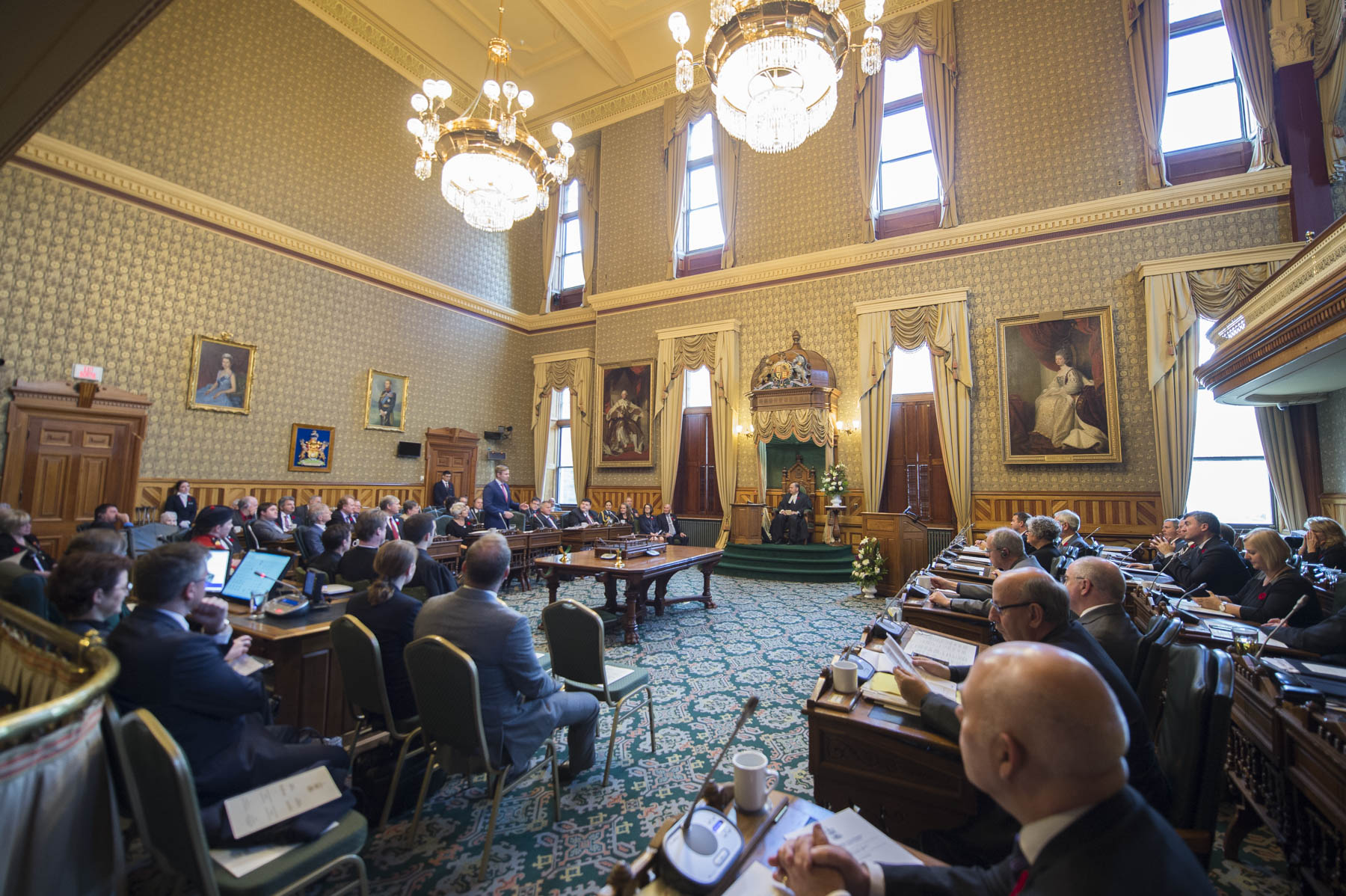 Later, Her Excellency addressed the members of the Legislative Assembly.