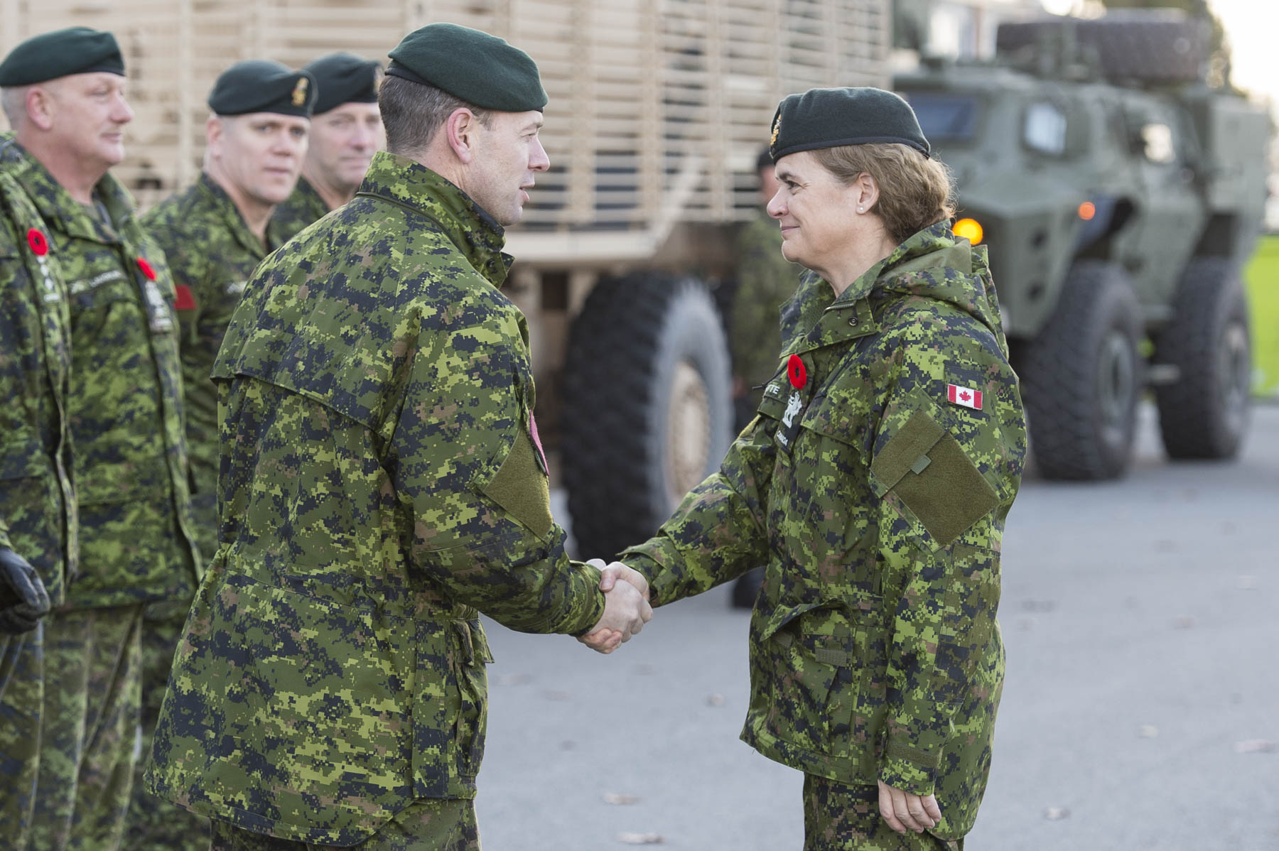 The Governor General visited 5th Canadian Division Support Base (5 CDSB) Gagetown where she met with and extended her support to the troops and their families.
