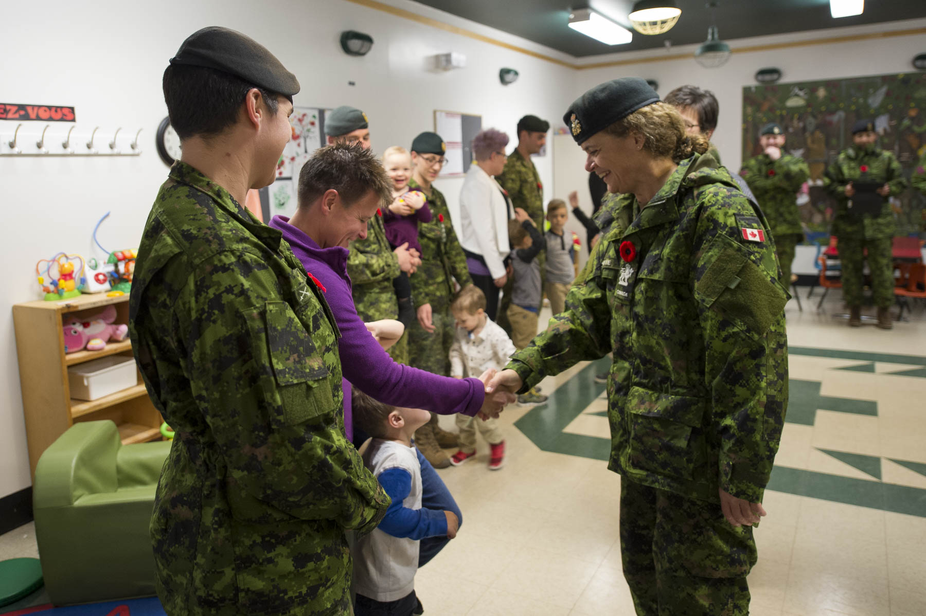 Her Excellency also stopped at the Gagetown Military Family Resource Centre.