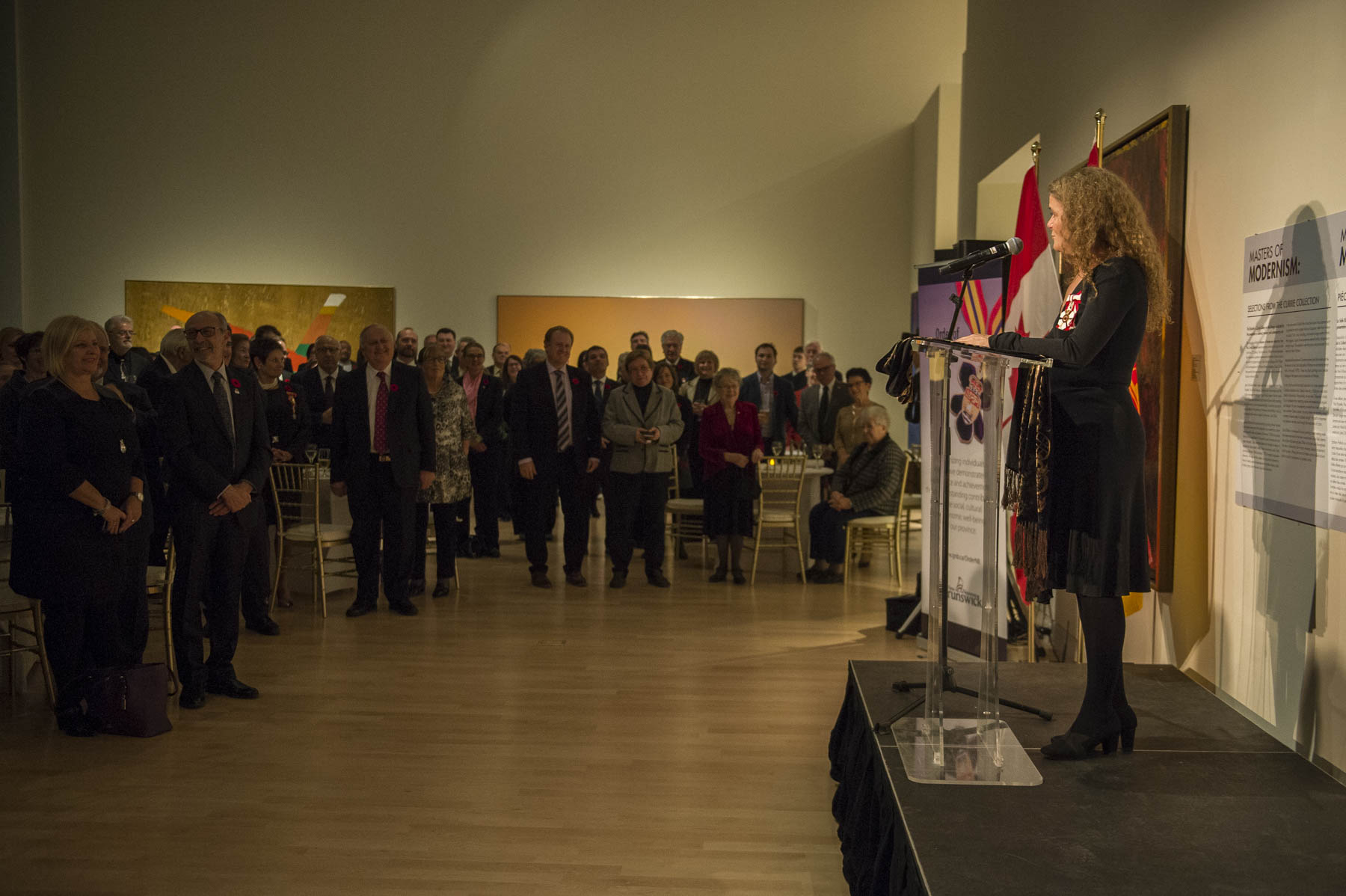 In the evening, Her Excellency delivered remarks at a reception in celebration of the 150th anniversary of Canadian confederation.