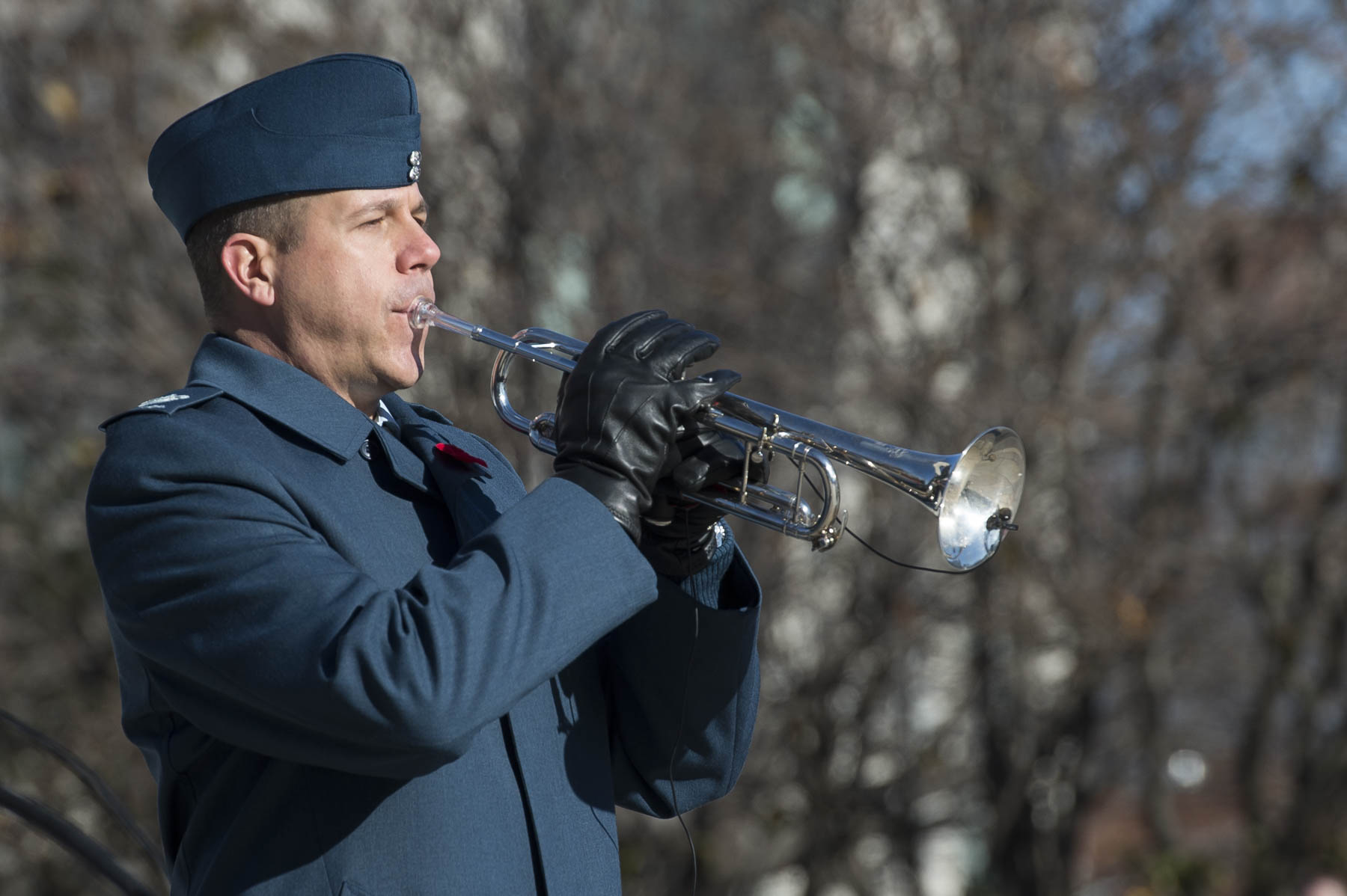 "Just before the eleventh hour, a trumpeter performed the ""Last Post""."