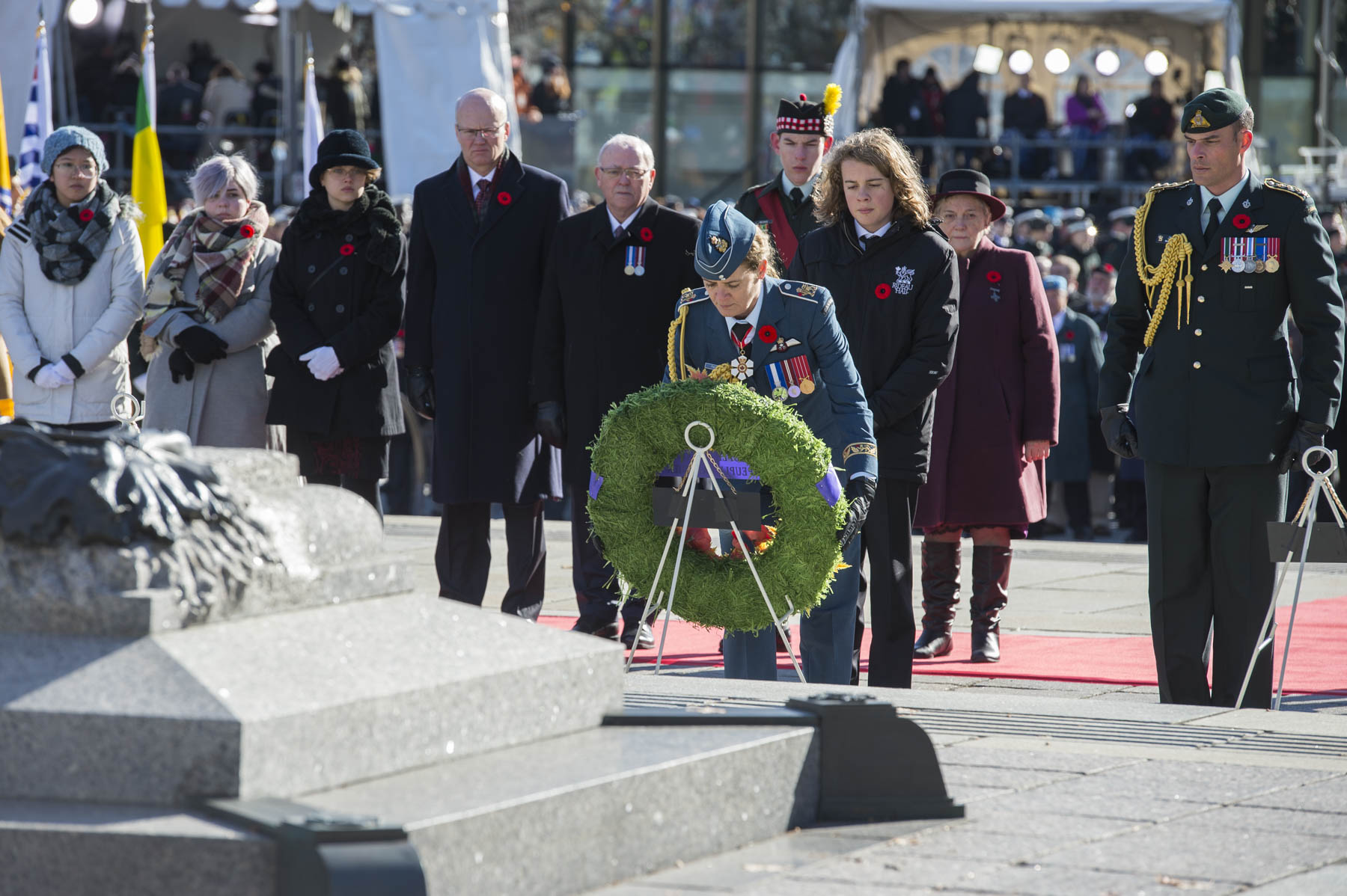 Her Excellency laid a wreath on behalf of the people of Canada.