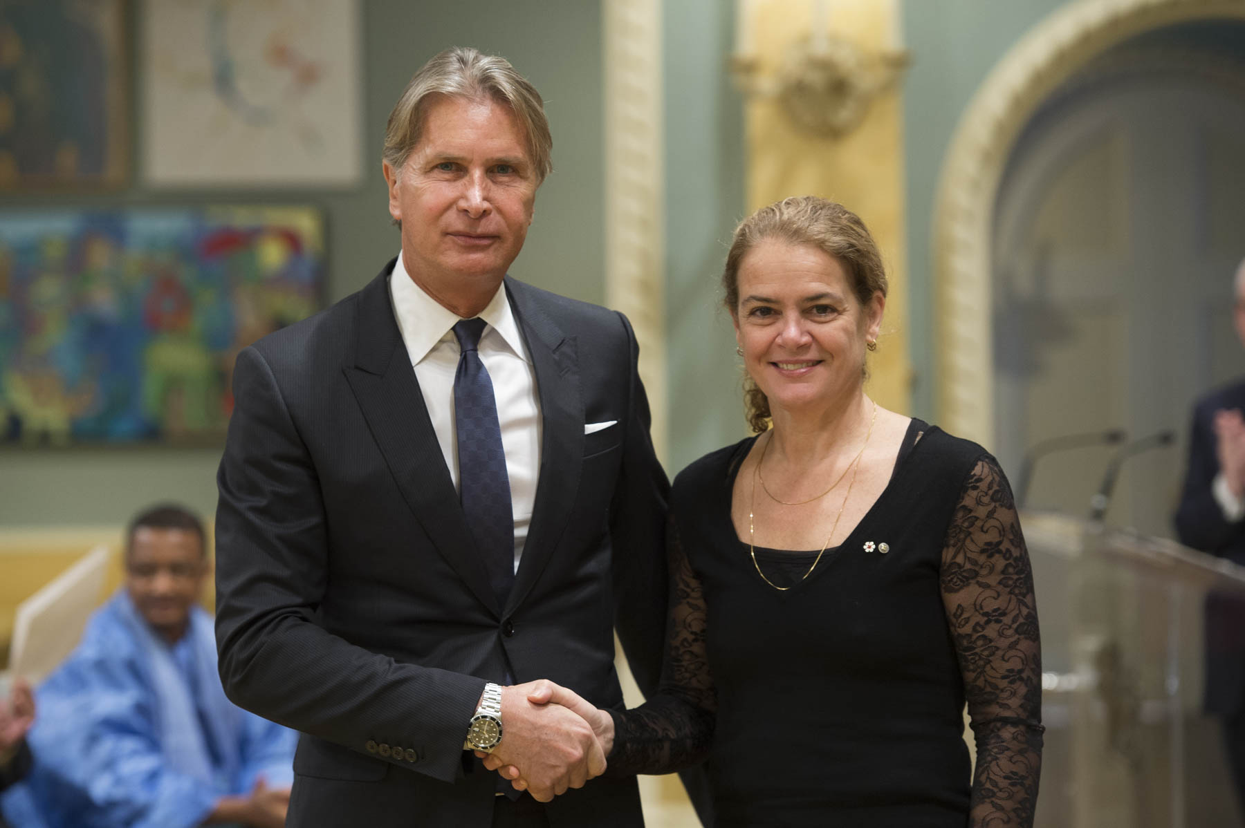 She then accepted the letters of credence of His Excellency Maurizio Carlo Alberto Gelli, Ambassador of the Republic of Nicaragua.
