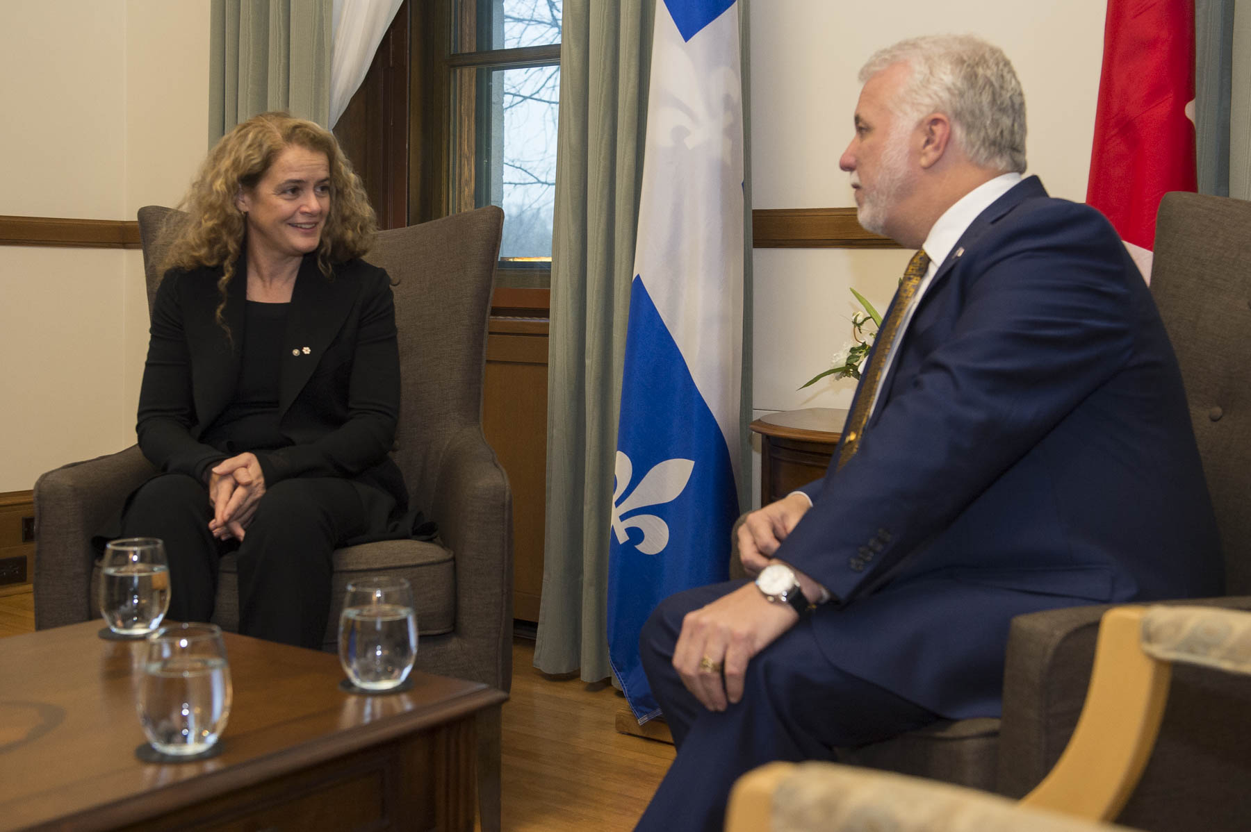 She also met with the Honourable Philippe Couillard, Premier of Quebec.