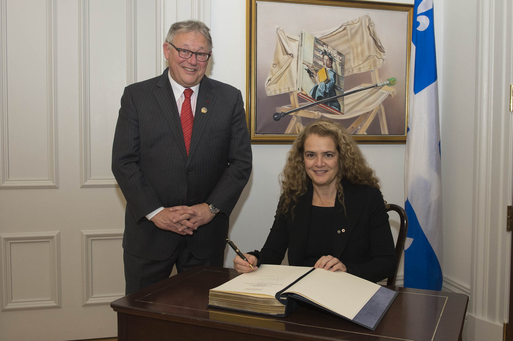 Finally, she met with the Honourable Jacques Chagnon, Speaker of the National Assembly of Quebec.