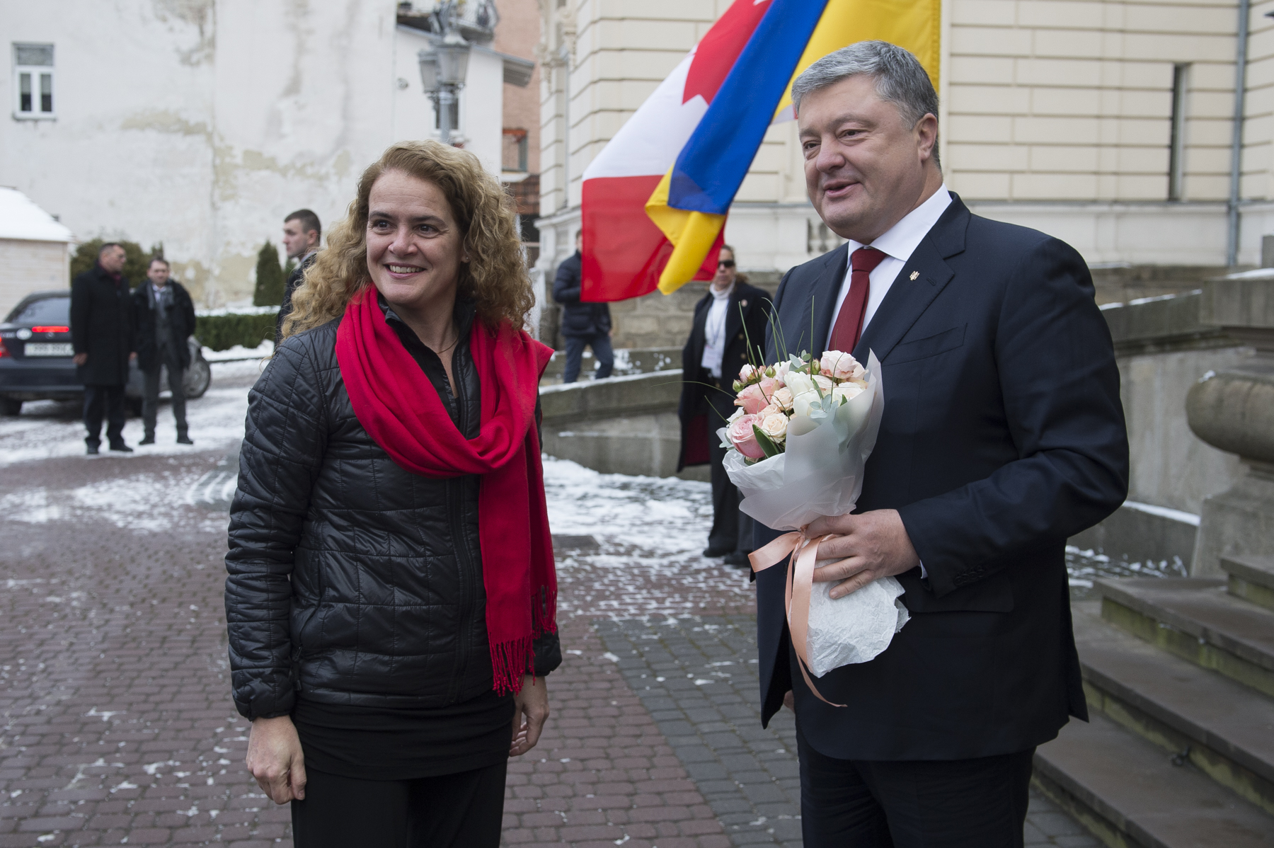 Later, Her Excellency visited Potocki Palace, where she met with His Excellency Petro Poroshenko, President of Ukraine.