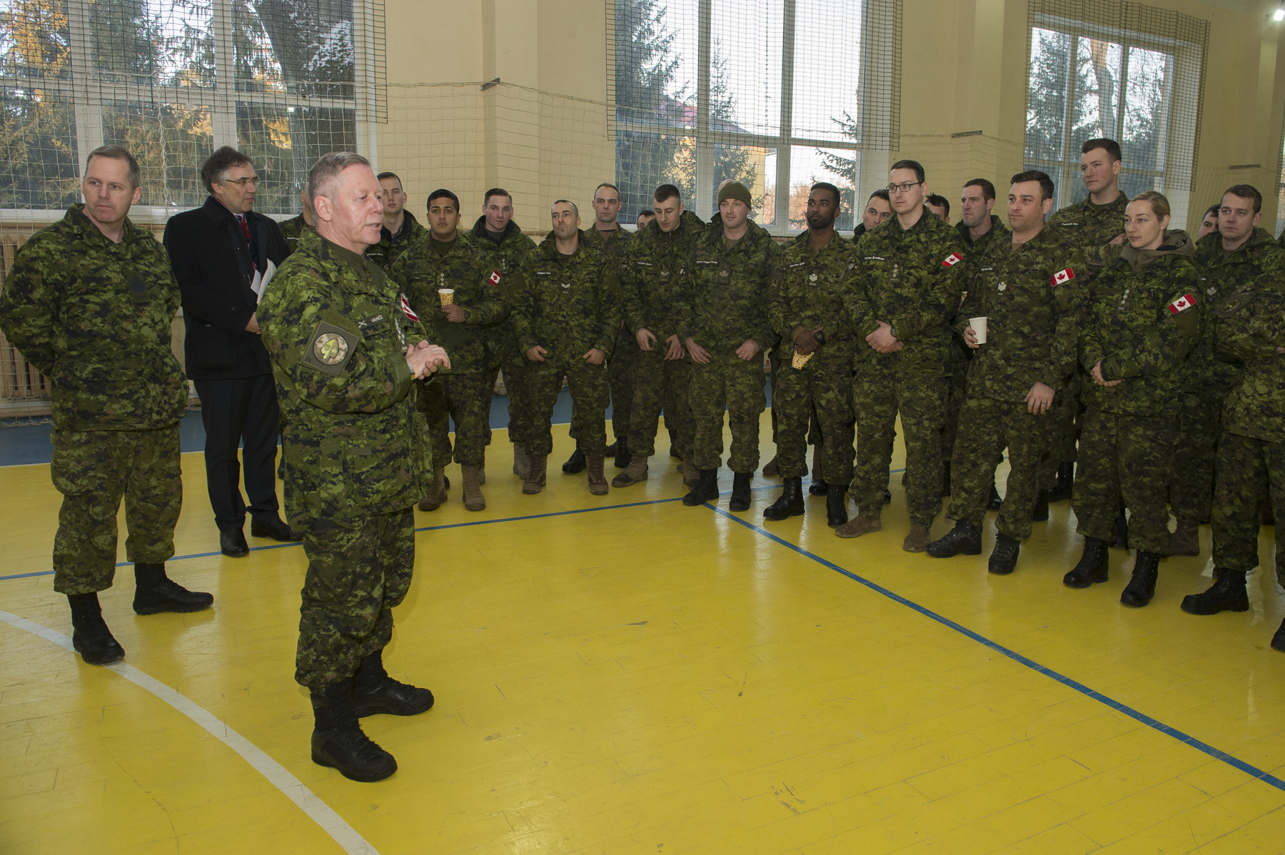 General Jonathan Vance, Chief of the Defence Staff addressed the troops.