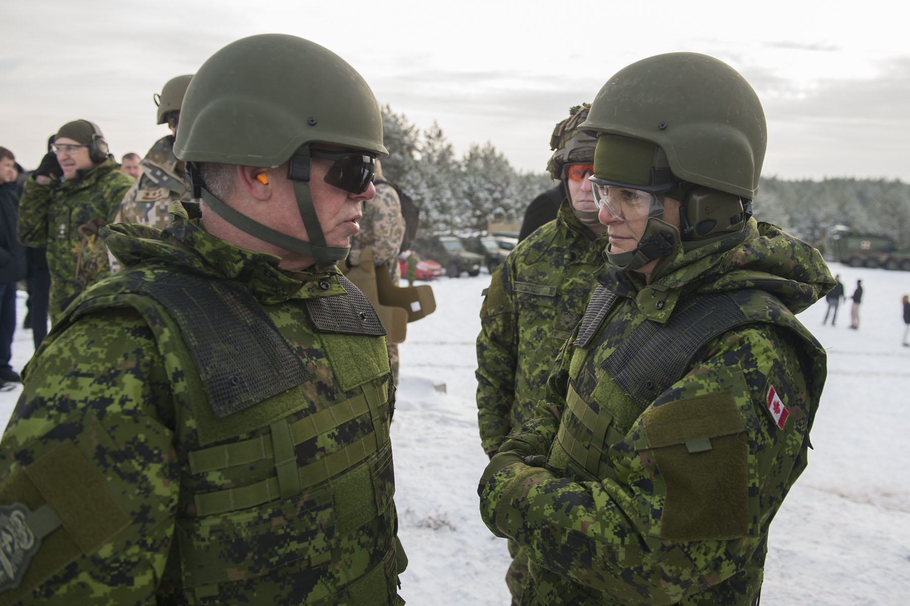 During this visit, Her Excellency learned about Operation REASSURANCE.
