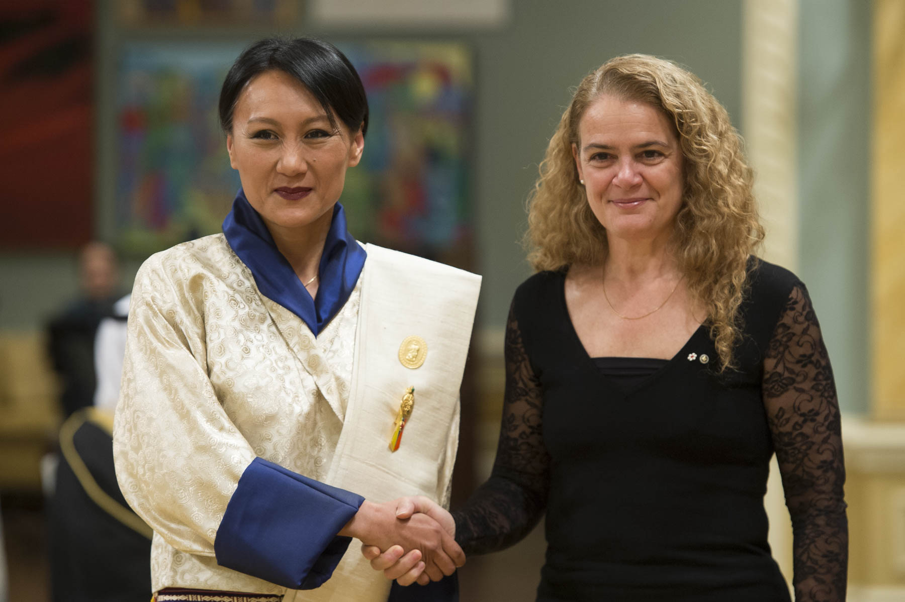 Her Excellency Doma Tshering, Ambassador of the Kingdom of Bhutan was next to present her letters of credence.