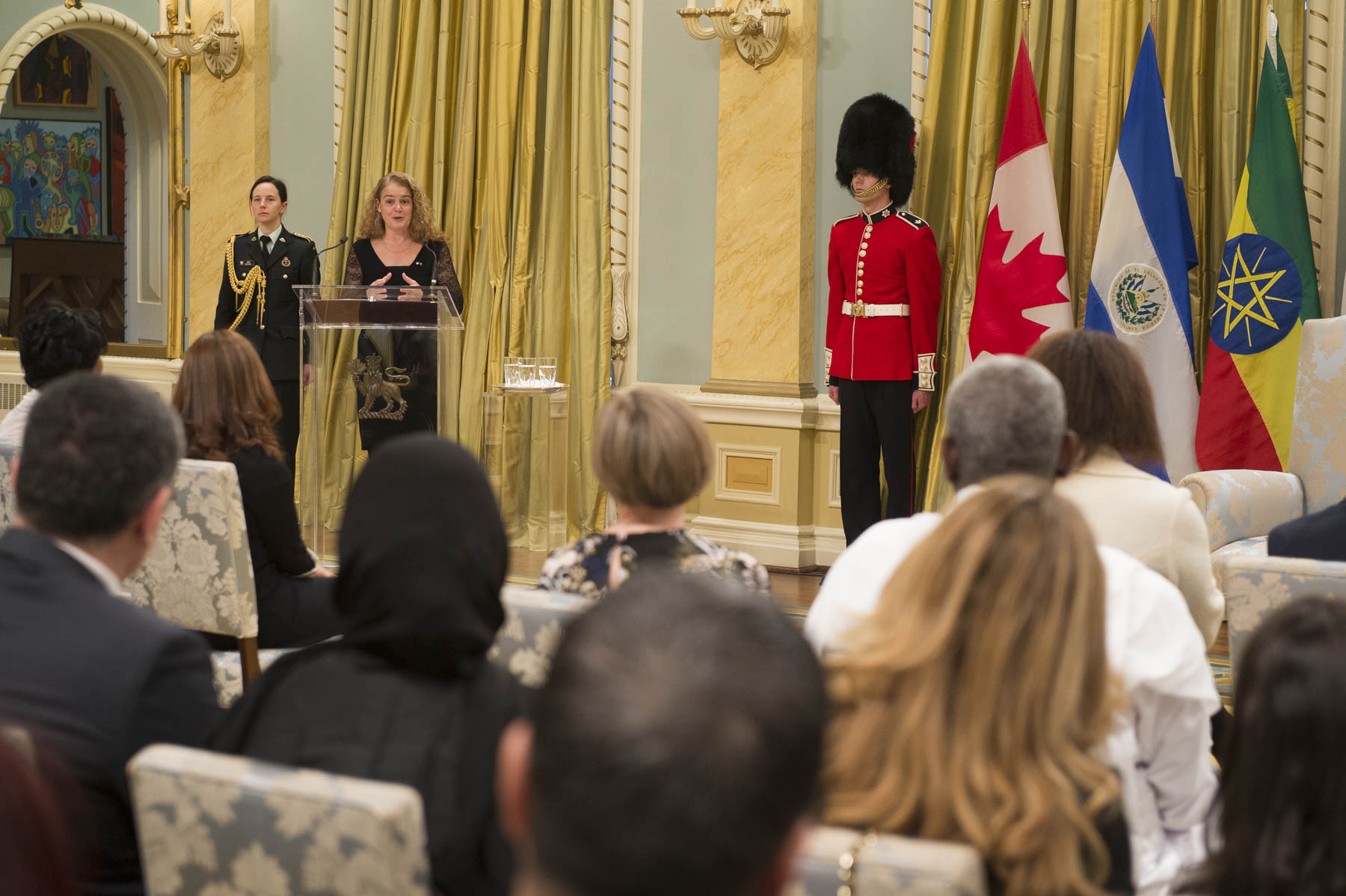 The Governor General delivered a speech welcoming the new heads of mission to Canada.