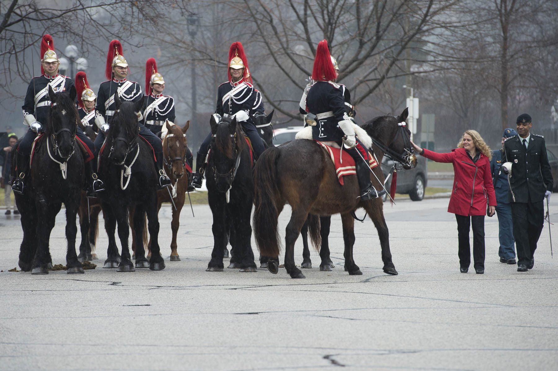 The Governor General's Horse Guards were also present.
