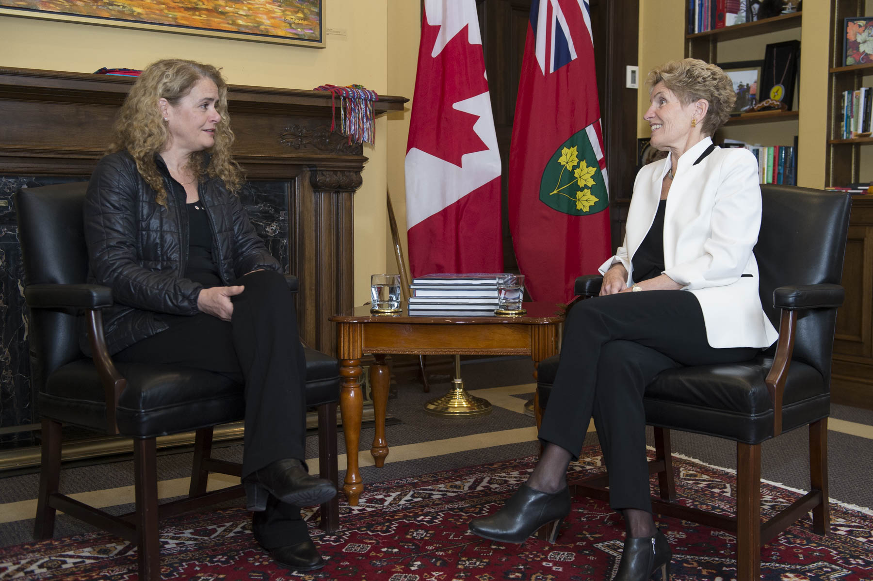 Next, Her Excellency met with the Honourable Kathleen Wynne, Premier of Ontario.
