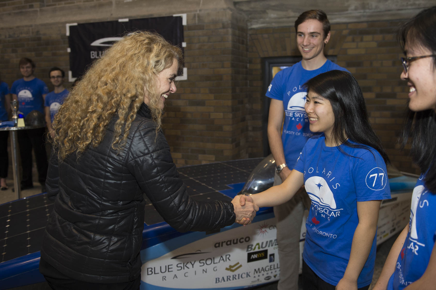 In the evening, the Governor General visited the MaRS Discovery District where she met with students from the University of Toronto.