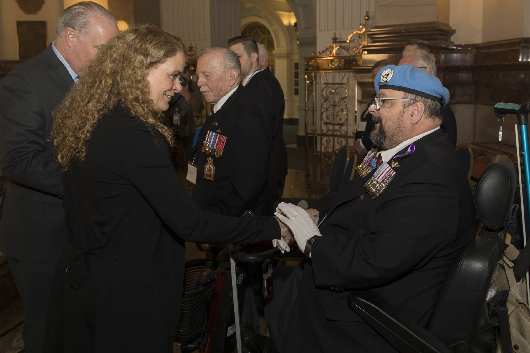 Prior to her meeting with the Premier, Her Excellency met with veterans.