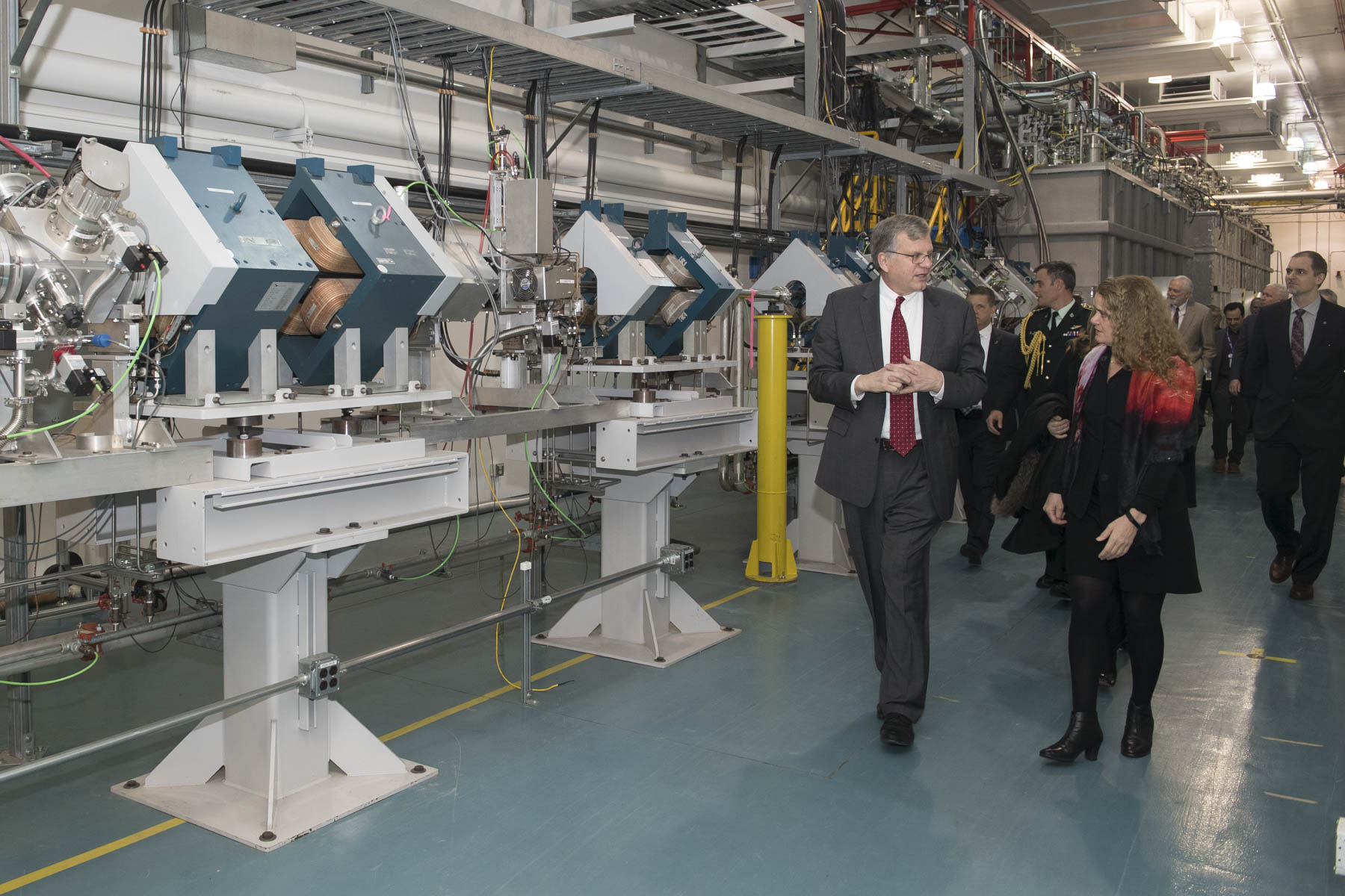 In the morning, the Governor General had an opportunity to tour the TRIUMF campus, Canada's particle accelerator centre.