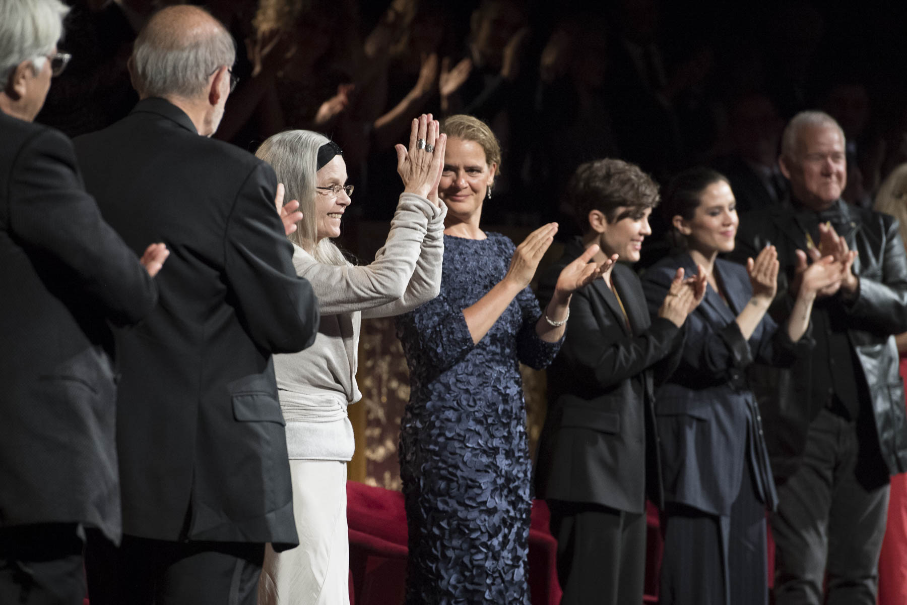 Geneviève Bujold (third from the left) is one of the 2018 recipients of the Governor General's Performing Arts Awards.