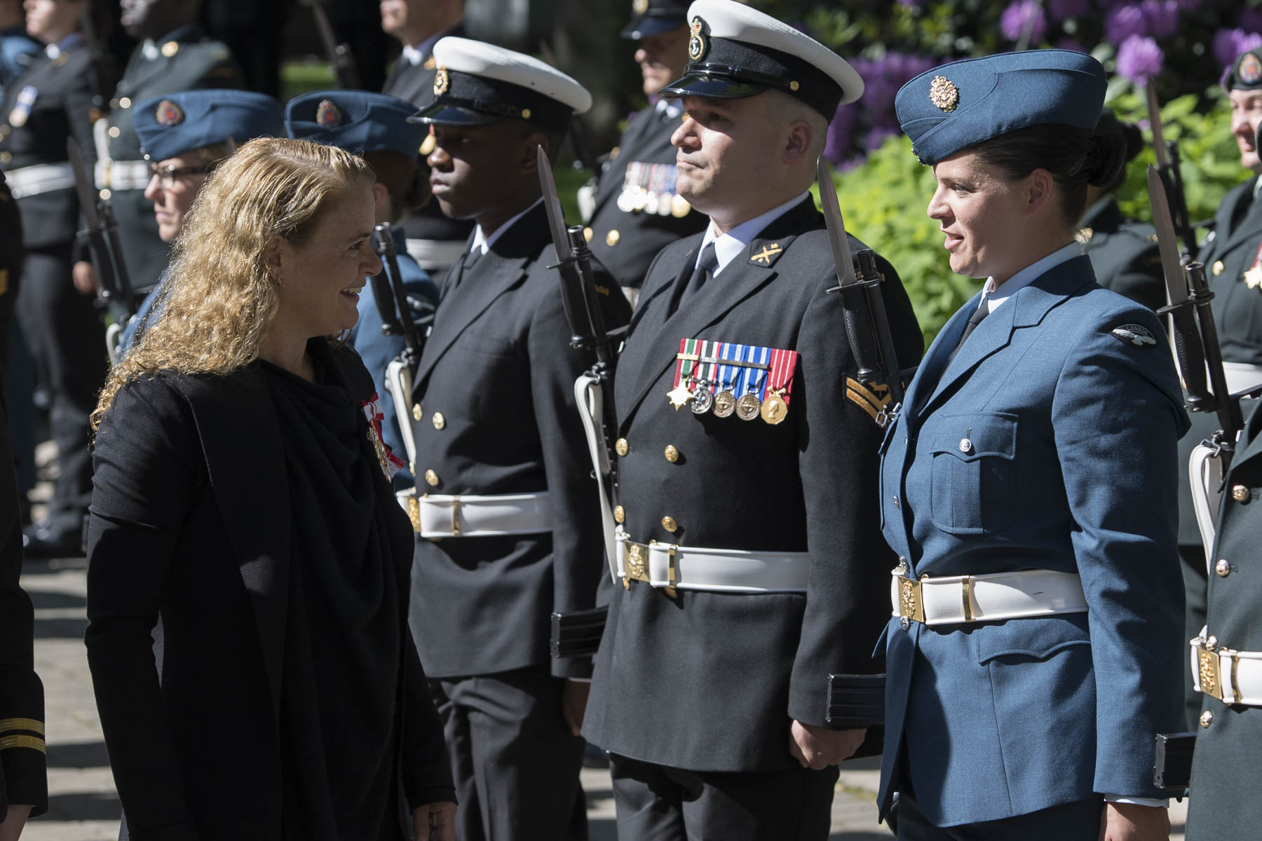 Upon arrival at Government House on June 26, 2018, Her Excellency received military honours, including a 50-person guard of honour.