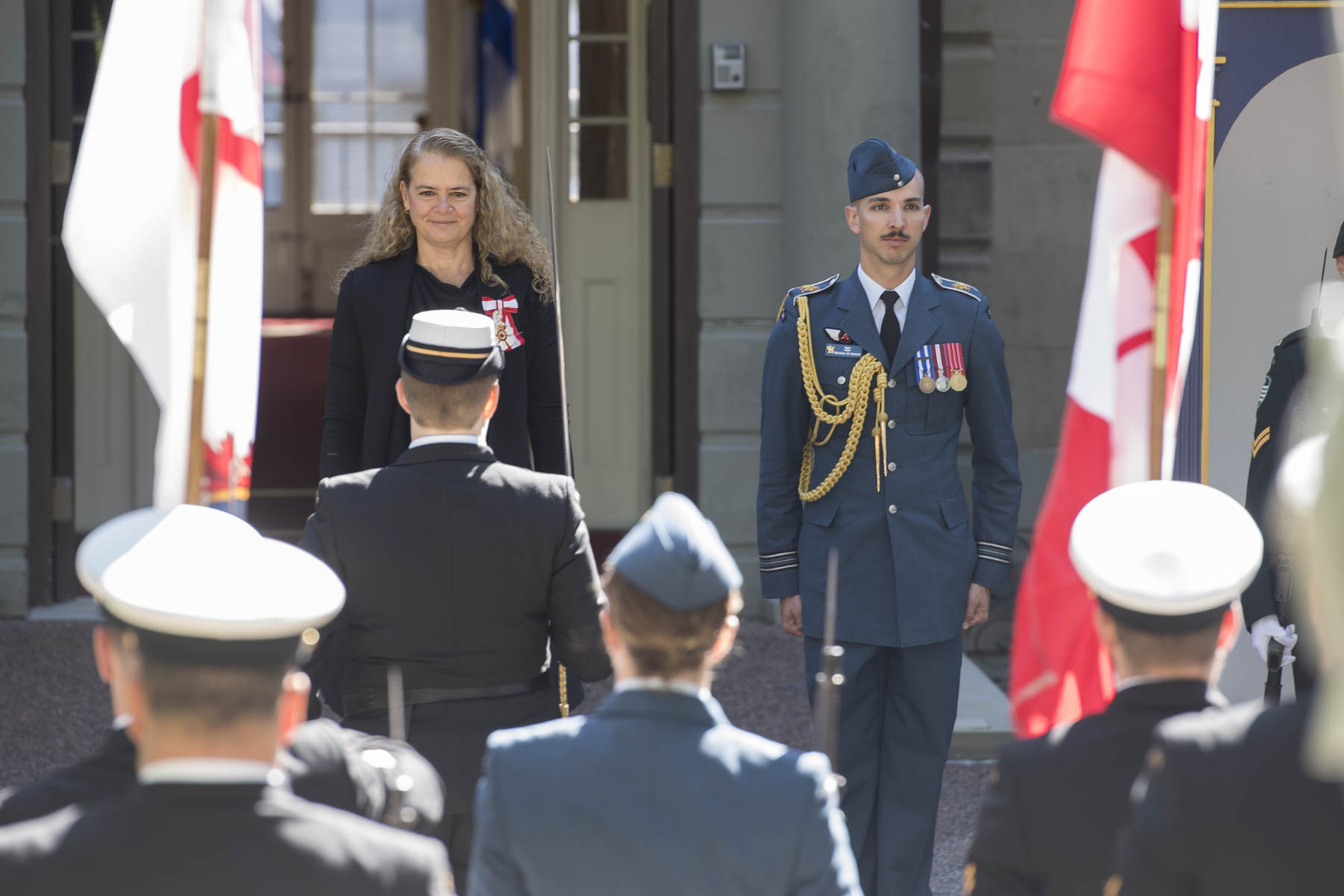 "She also received a ""Viceregal Salute"" and a 21-gun salute from the Maritime Forces Atlantic, 