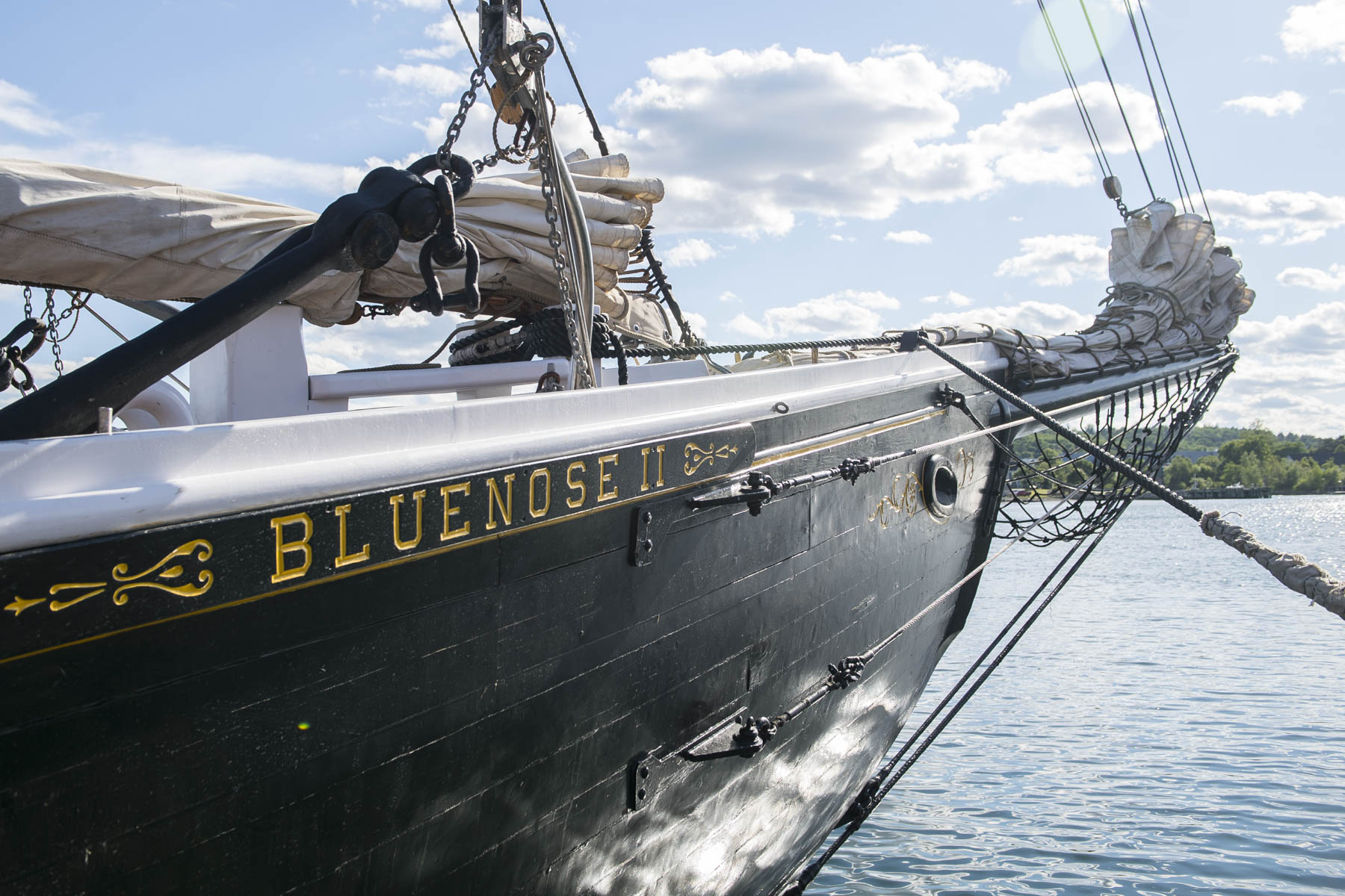 Bluenose II was built in 1963 and is a replica of the original schooner, which was a celebrated racing ship and fishing vessel. Each year, 12 youth are hired to be deckhands.