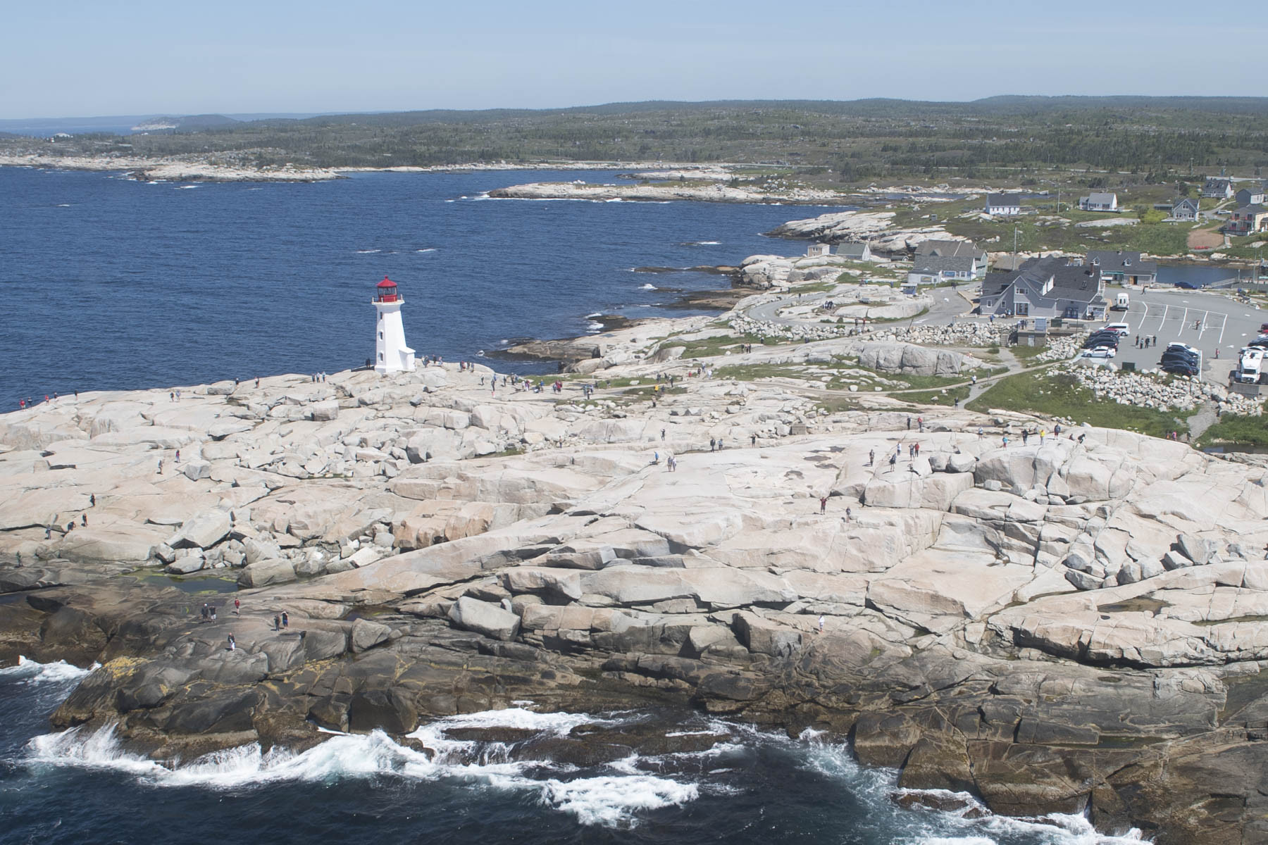 During the flight, the CH-148 Cyclone flew over Peggy's Cove.