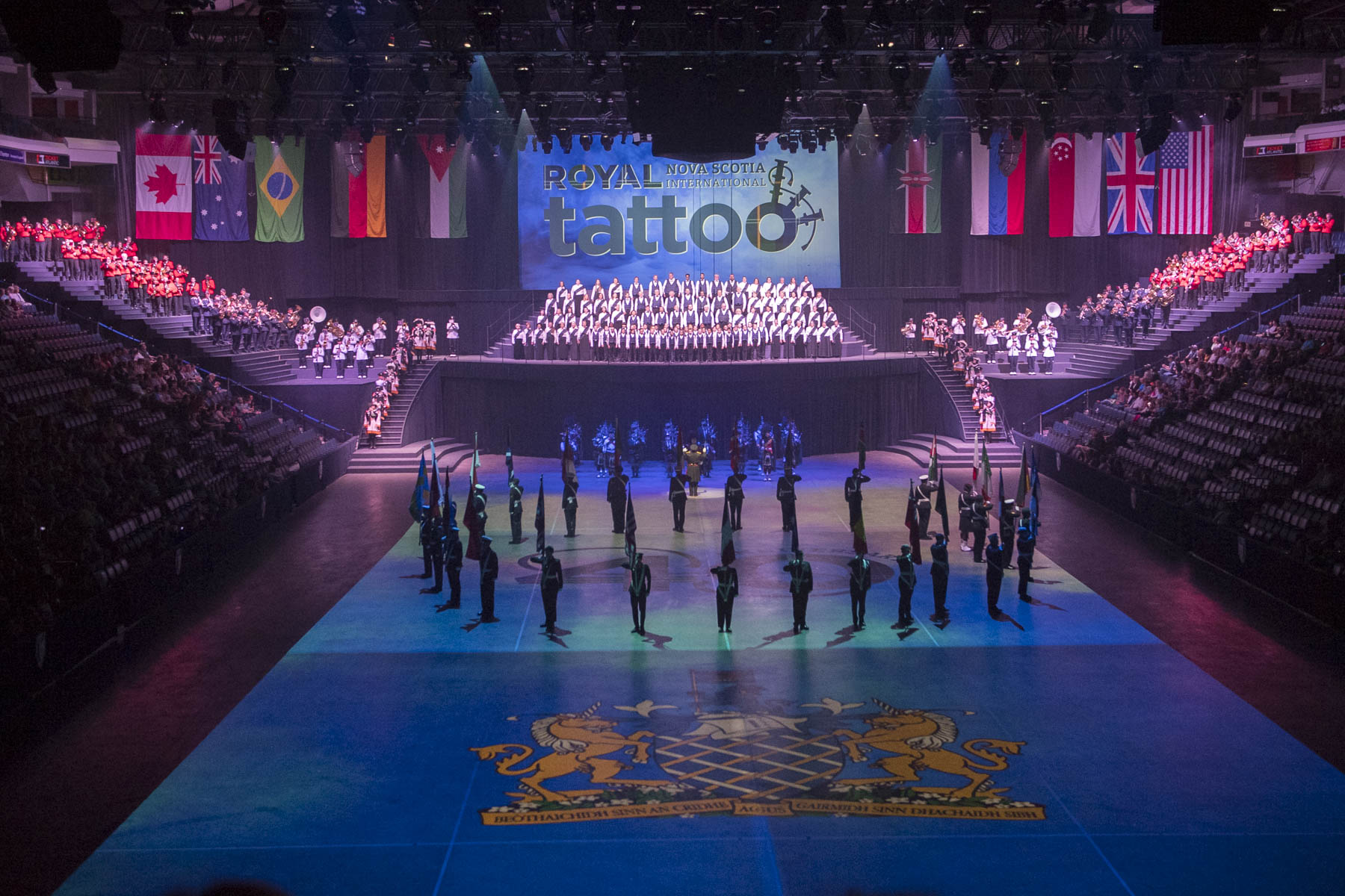 The Royal Nova Scotia International Tattoo is an annual, week-long event.
