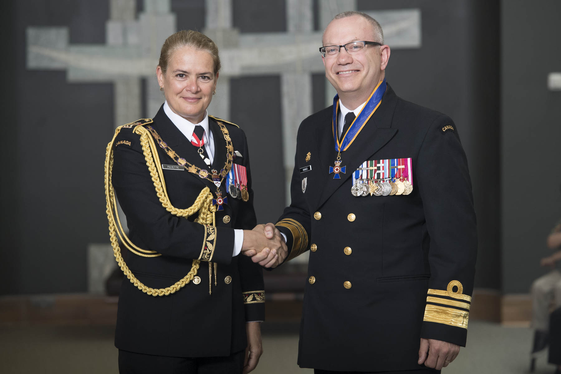 The Governor General bestowed the honour of Commander of the Order of Military Merit on Vice-Admiral Darren Carl Hawco, C.M.M., M.S.M., C.D.