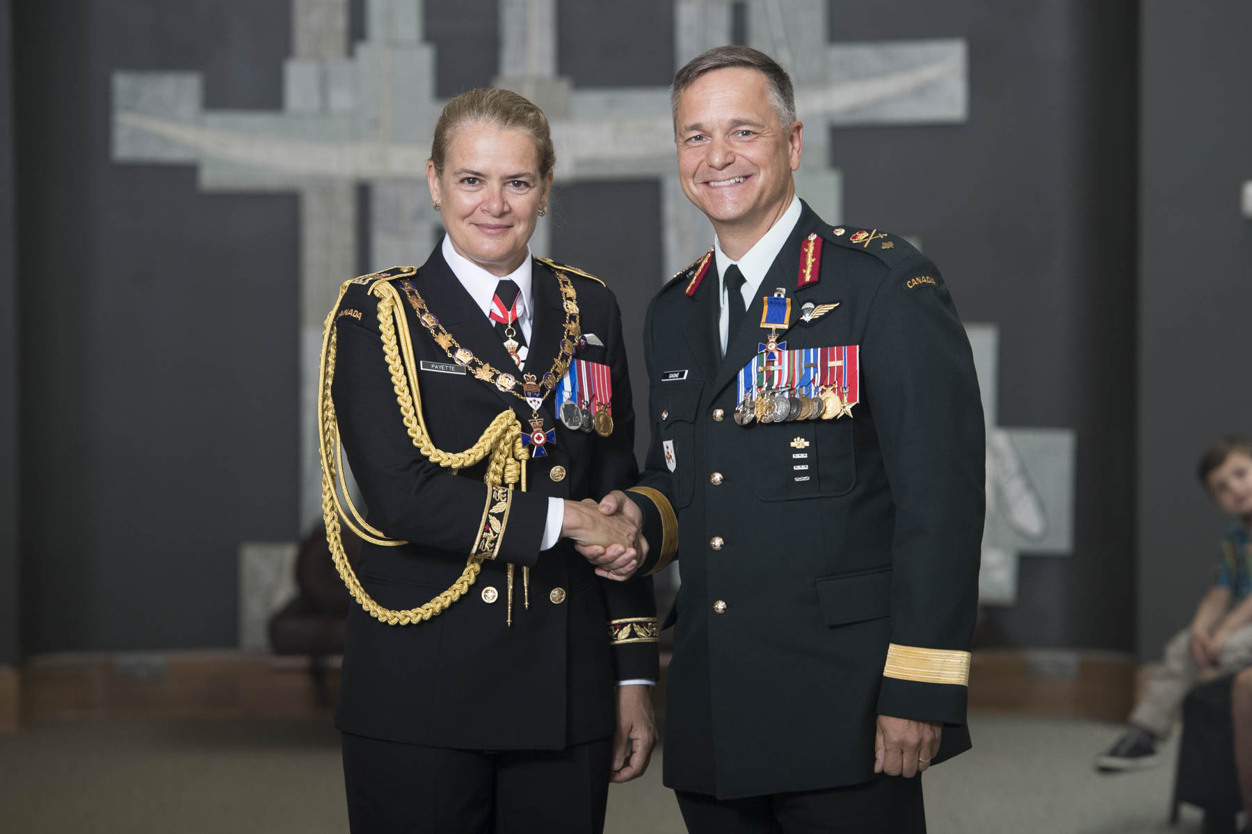 The Governor General bestowed the honour of Member of the Order of Military Merit upon Brigadier-General Joseph Marc Gagné, O.M.M., M.S.M., C.D.