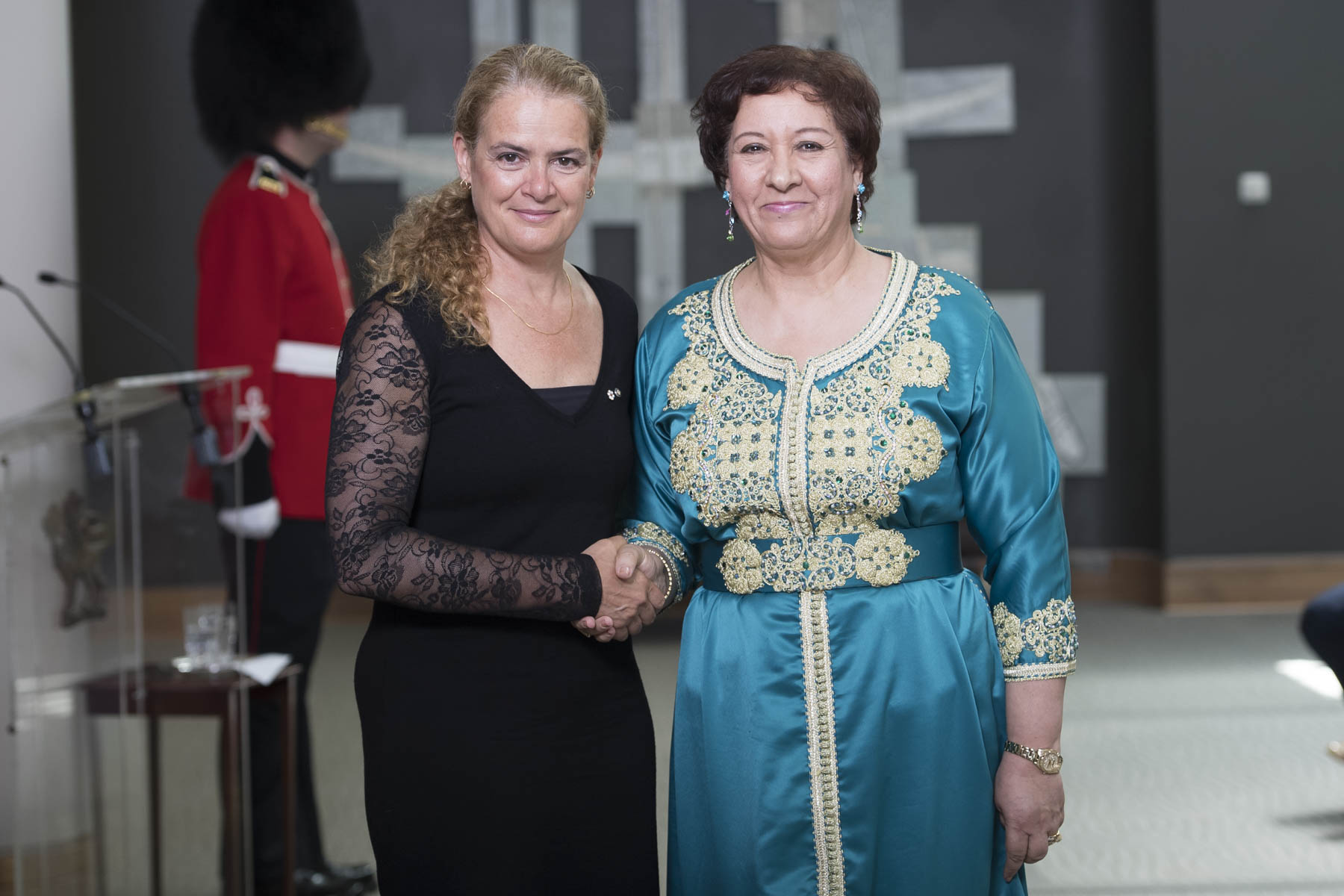 Her Excellency Souriya Otmani, Ambassador of the Kingdom of Morocco, was the first to present her letters of credence to the Governor General.