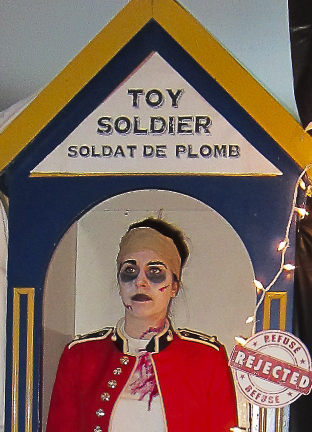 Visitors were invited to walk through this eerie dollhouse where they crossed paths with a forgotten toy soldier.