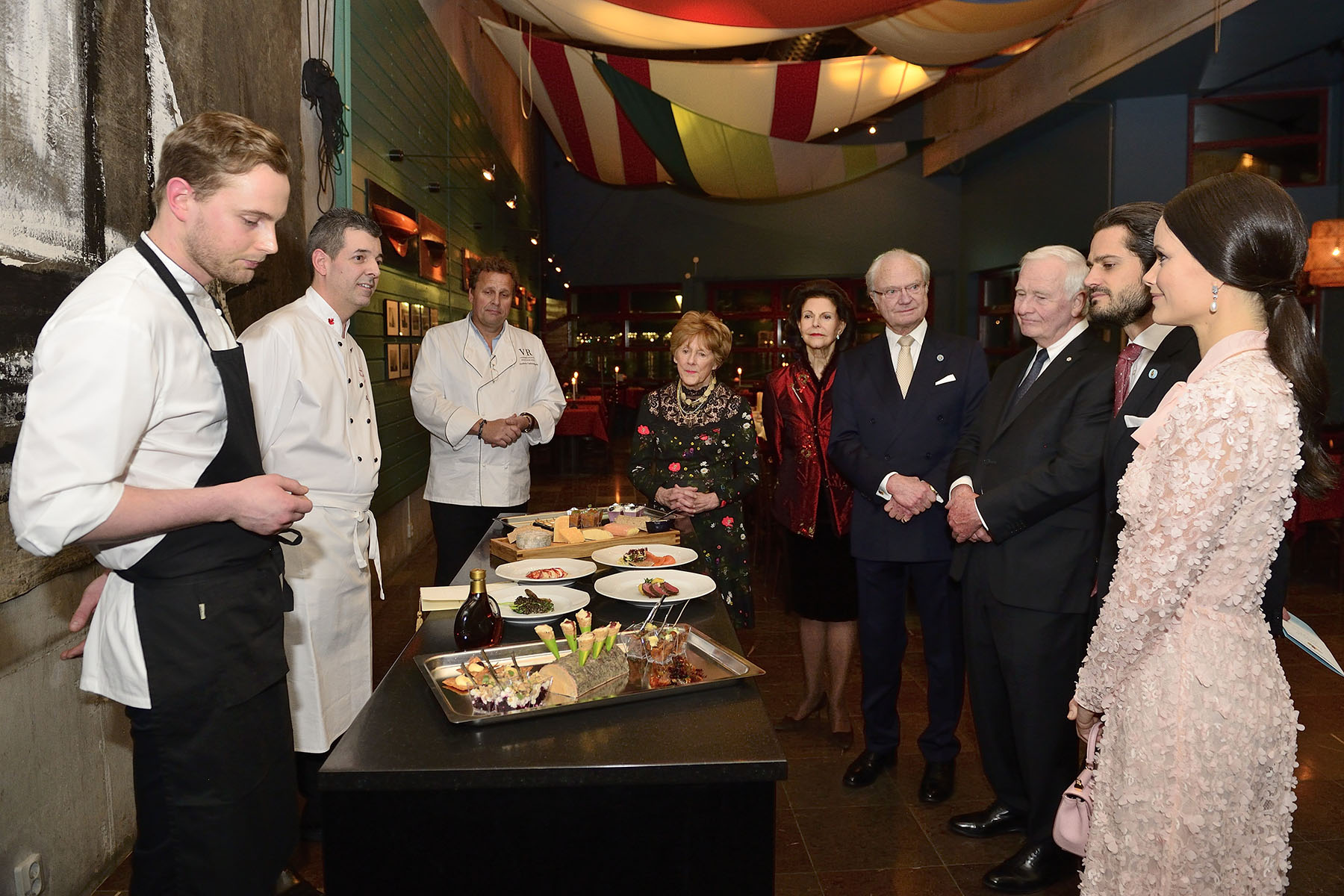 Their Excellencies, Their Majesties and Their Royal Highnesses Prince Carl Philip and Princess Sofia attended a presentation by Canadian and Swedish Chefs on their culinary creations.